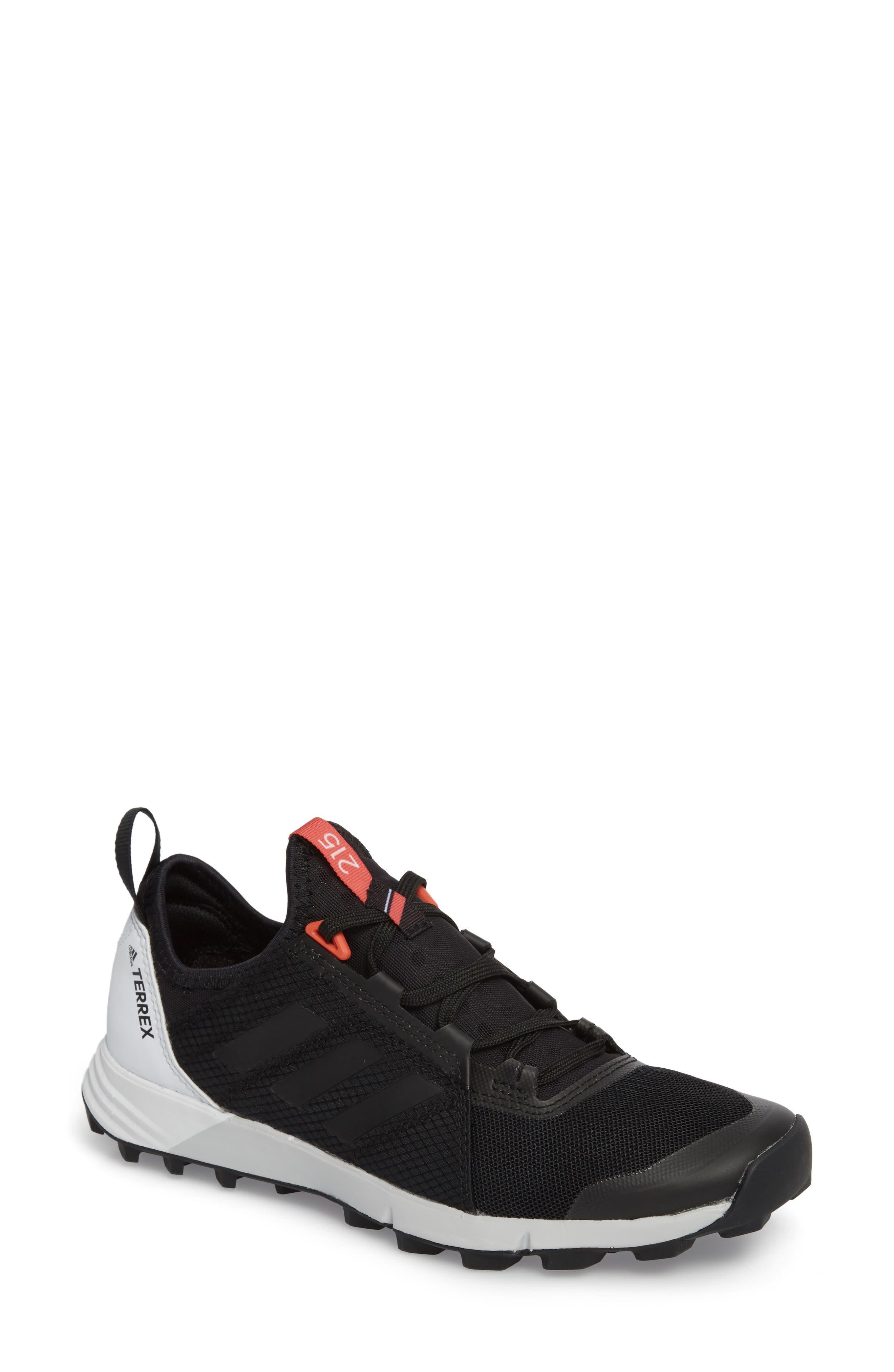 ADIDAS,                             Terrex Agravic Speed Running Shoe,                             Main thumbnail 1, color,                             BLACK/ WHITE