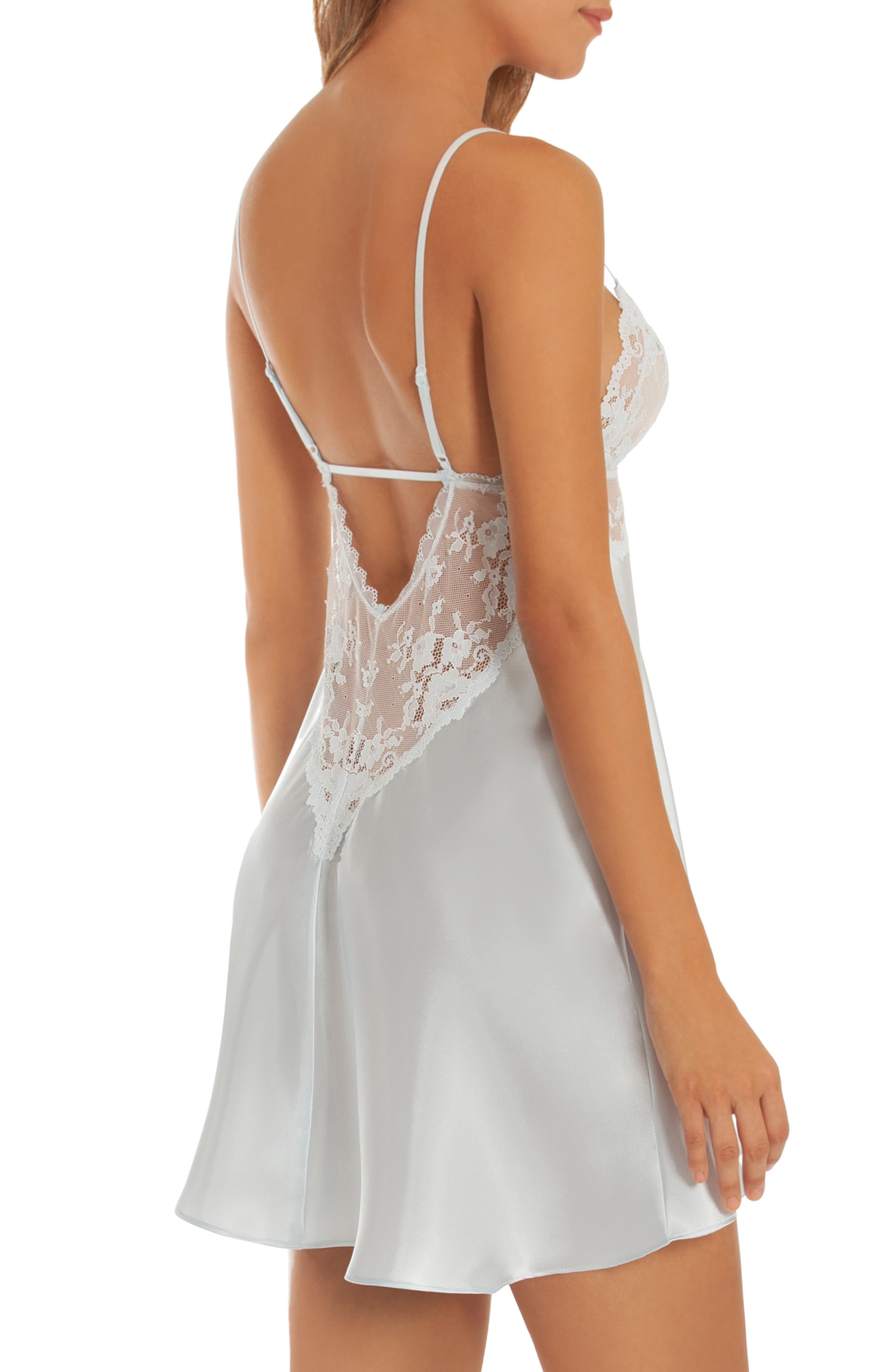 IN BLOOM BY JONQUIL,                             Lace & Satin Chemise,                             Alternate thumbnail 2, color,                             BLUE