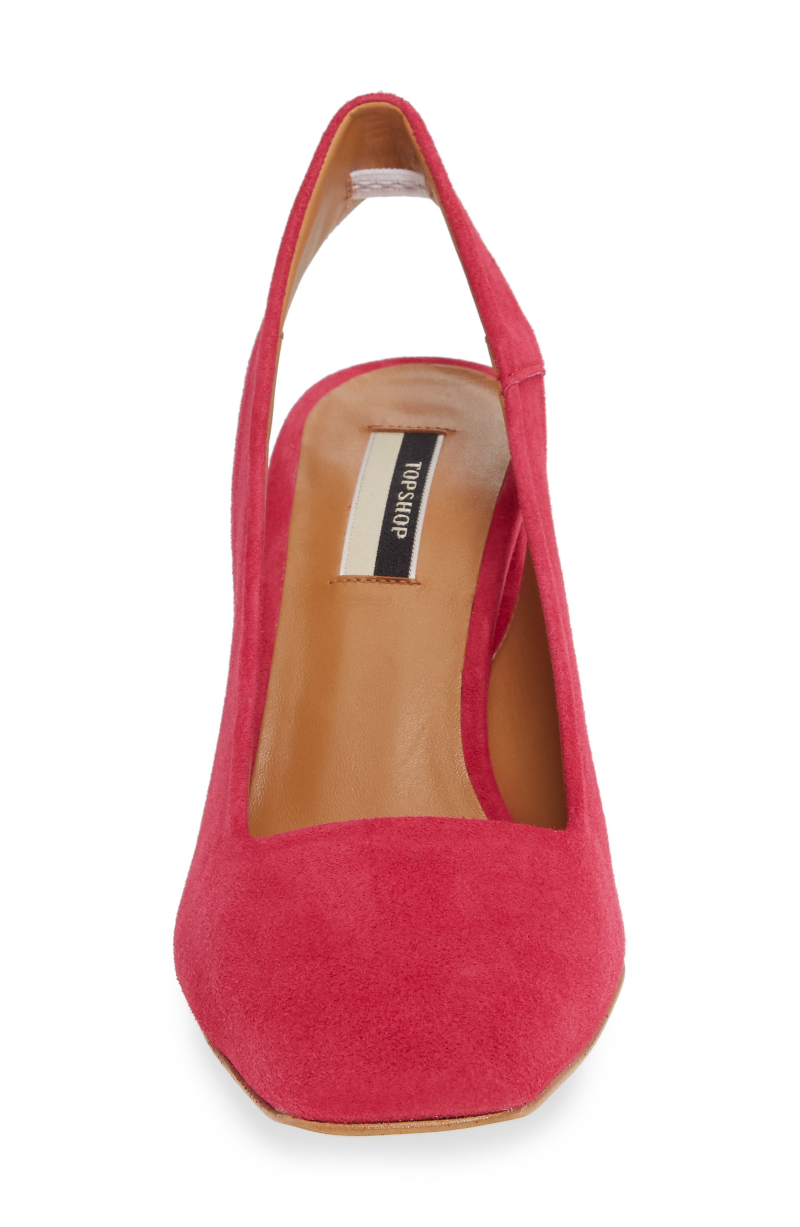 Gainor Block Heel Slingback Pump,                             Alternate thumbnail 4, color,                             PINK