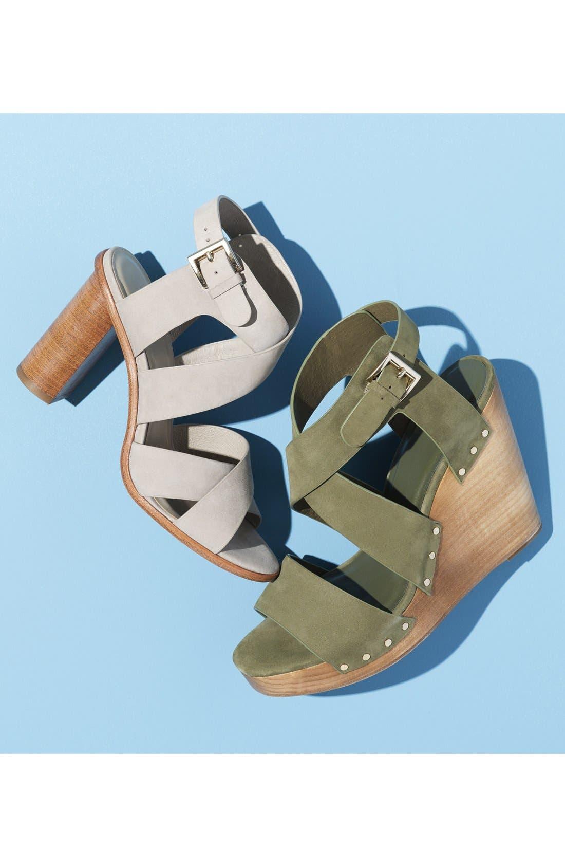 'Avery' Crisscross Block Heel Sandal,                             Alternate thumbnail 5, color,                             002