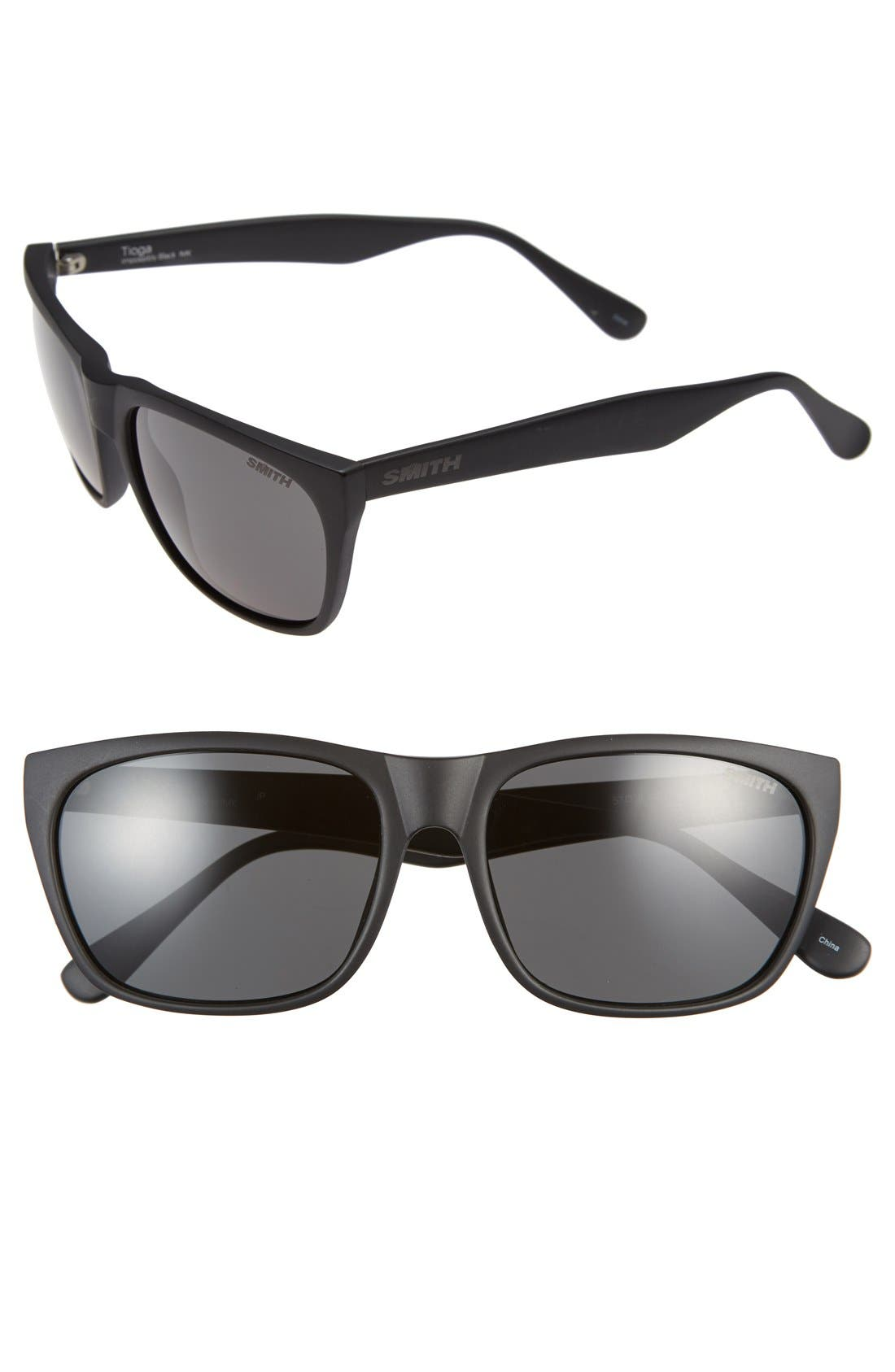 'Tioga' 57mm Sunglasses,                         Main,                         color, 001