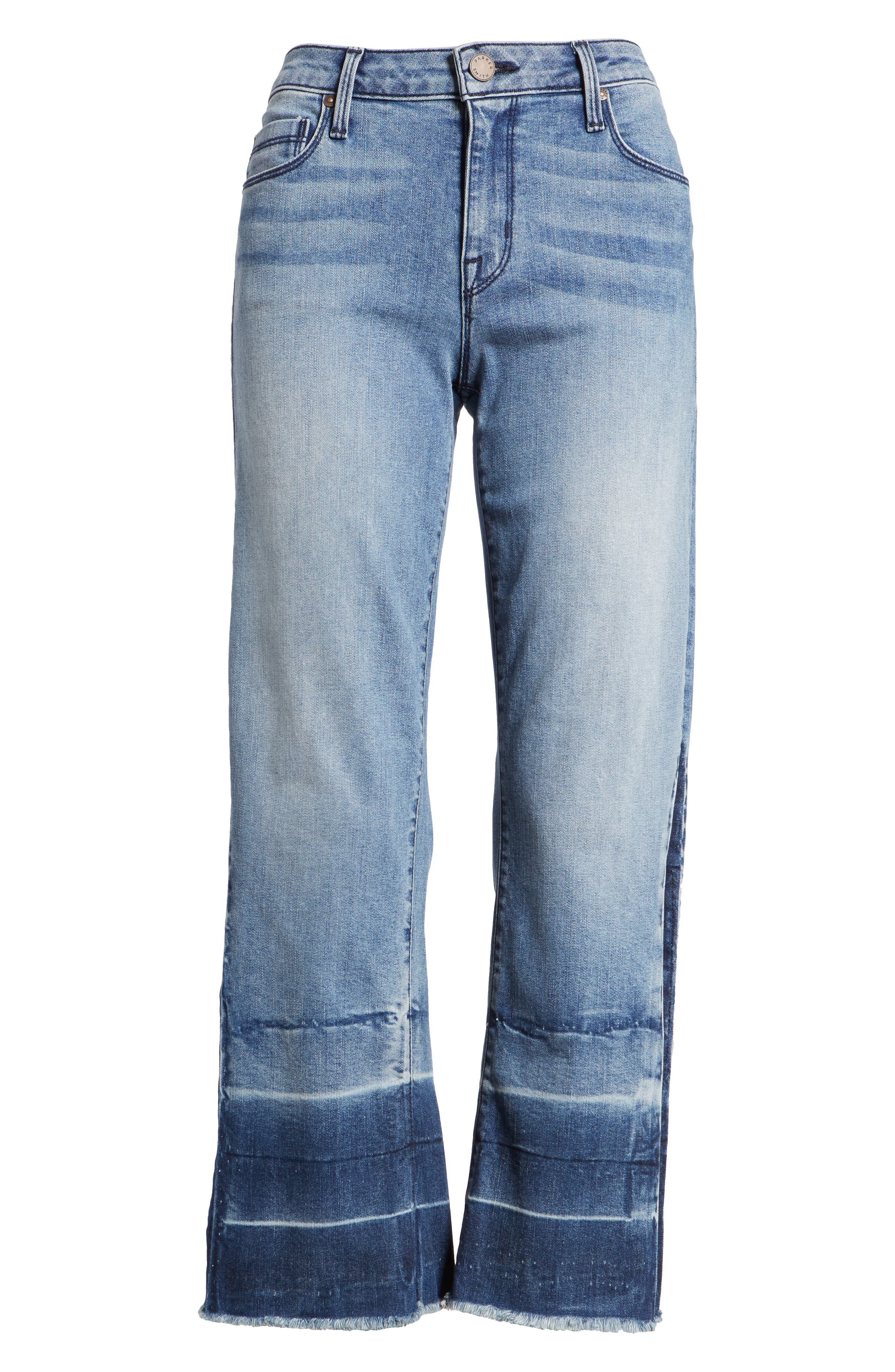 Off-Beat Crop Flare Jeans,                             Alternate thumbnail 7, color,                             424
