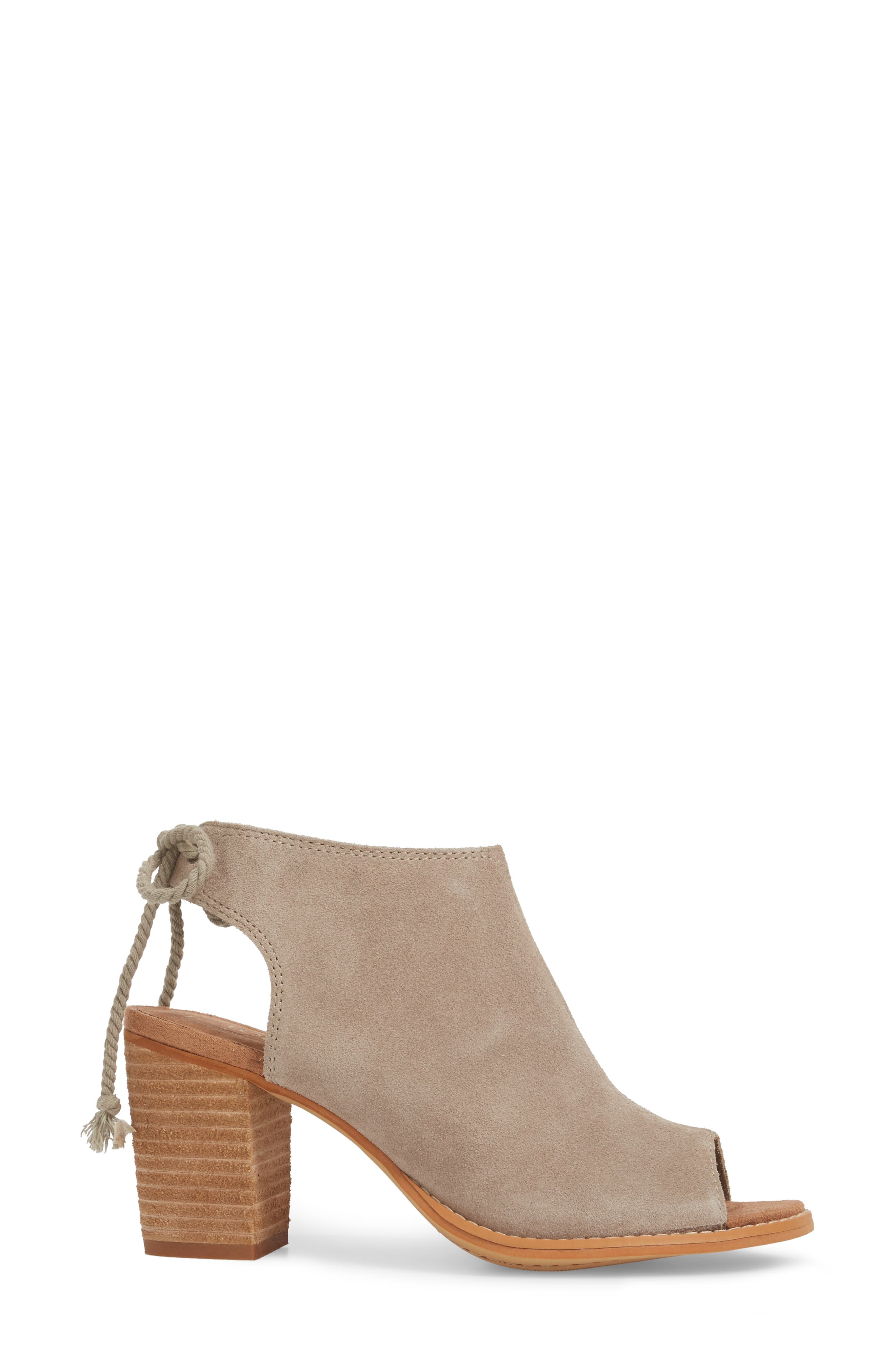 Elba Peep-Toe Bootie,                             Alternate thumbnail 3, color,                             DESERT TAUPE SUEDE