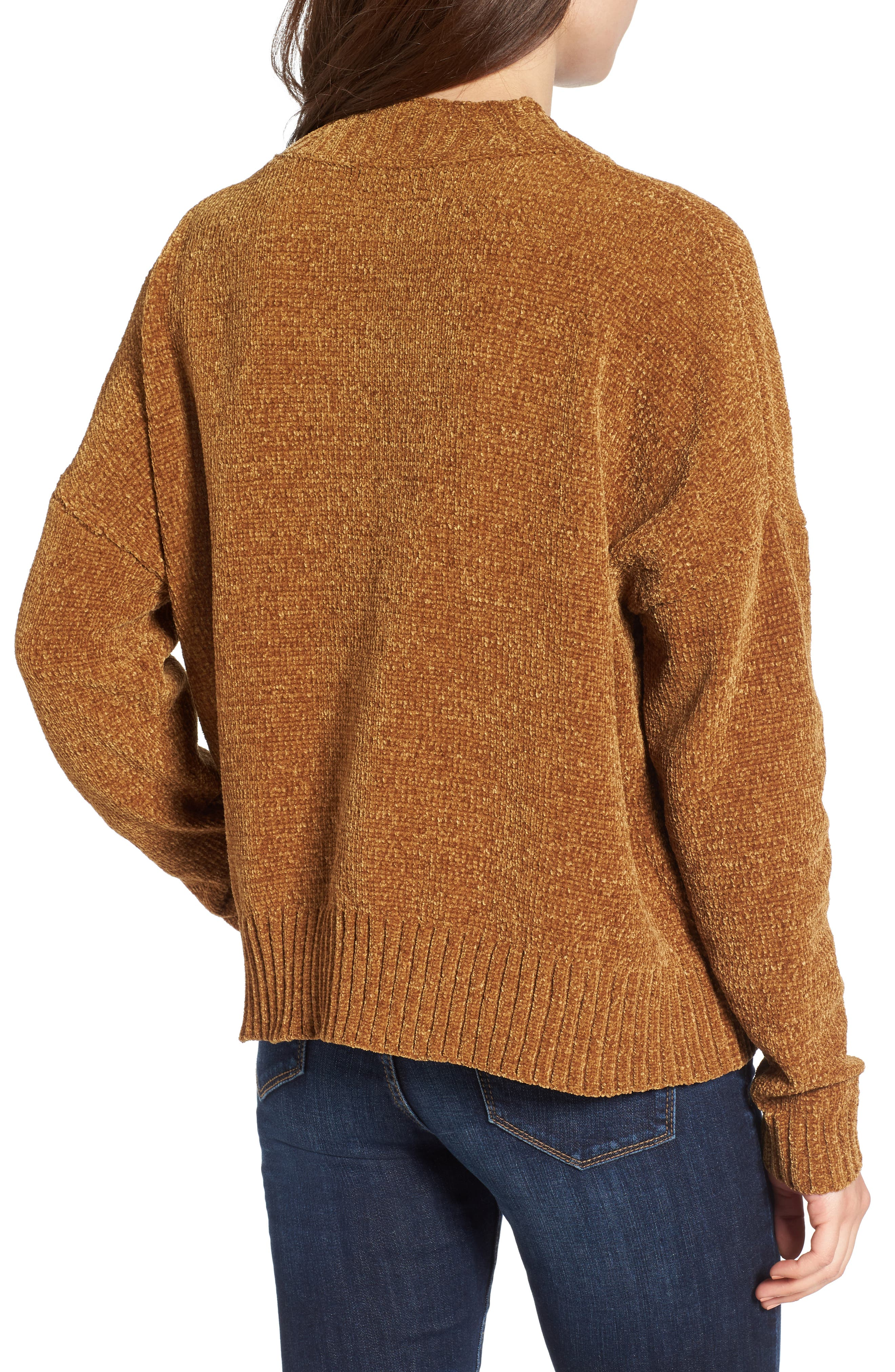 Chenille Funnel Neck Sweater,                             Alternate thumbnail 7, color,