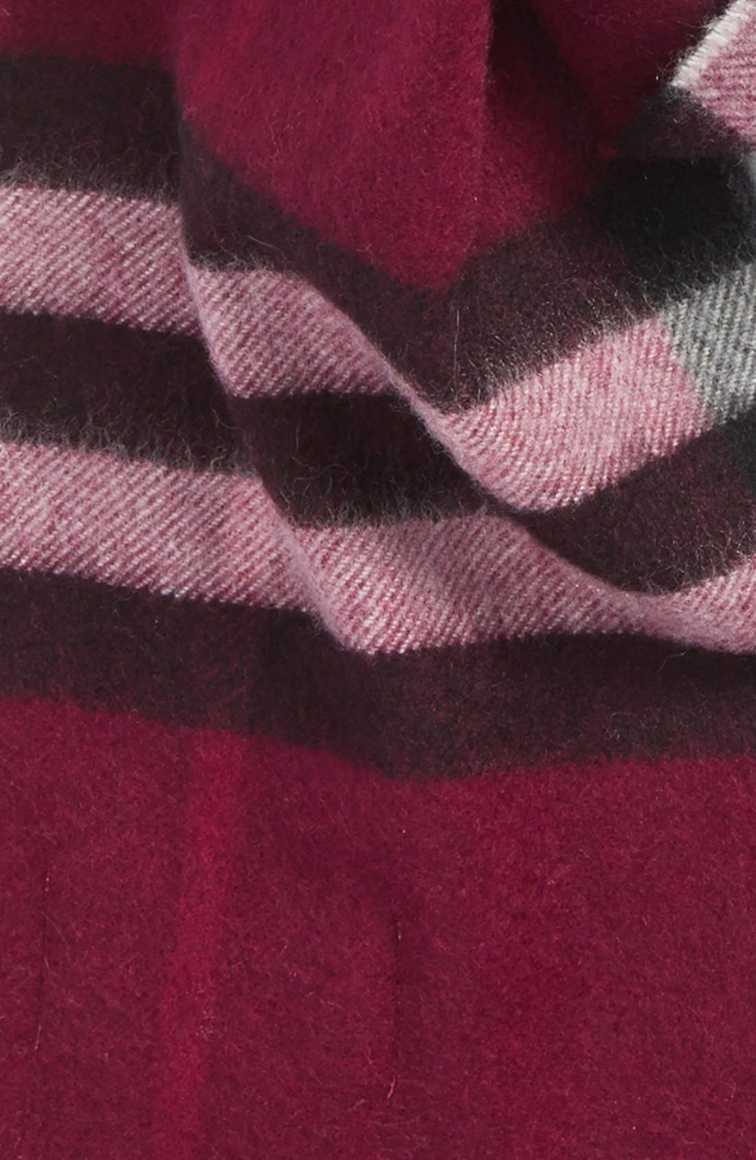 Giant Check Cashmere Scarf,                             Alternate thumbnail 3, color,                             500