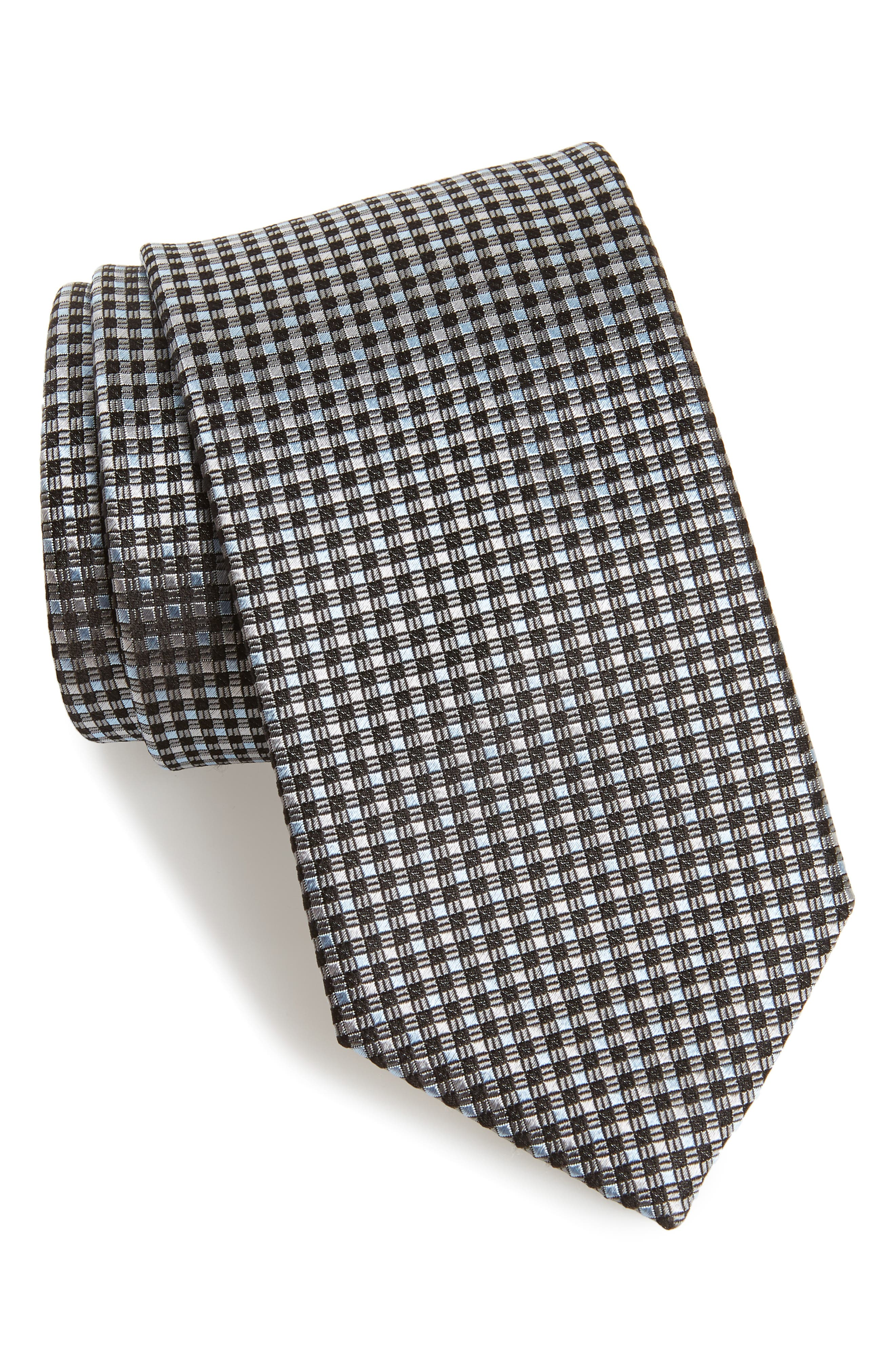 Check Silk Tie,                             Main thumbnail 1, color,                             020