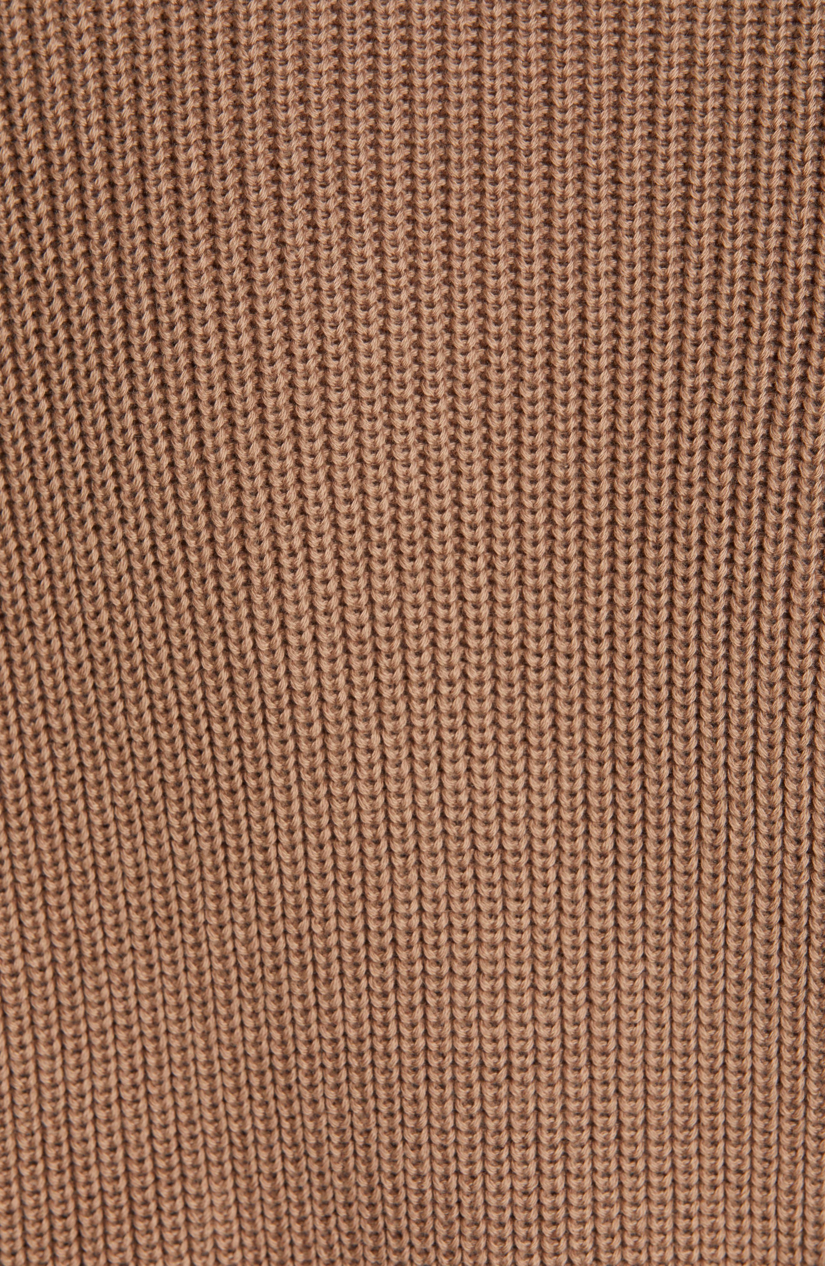 Monili Trim Crop Cotton Cardigan,                             Alternate thumbnail 5, color,                             CUBANO