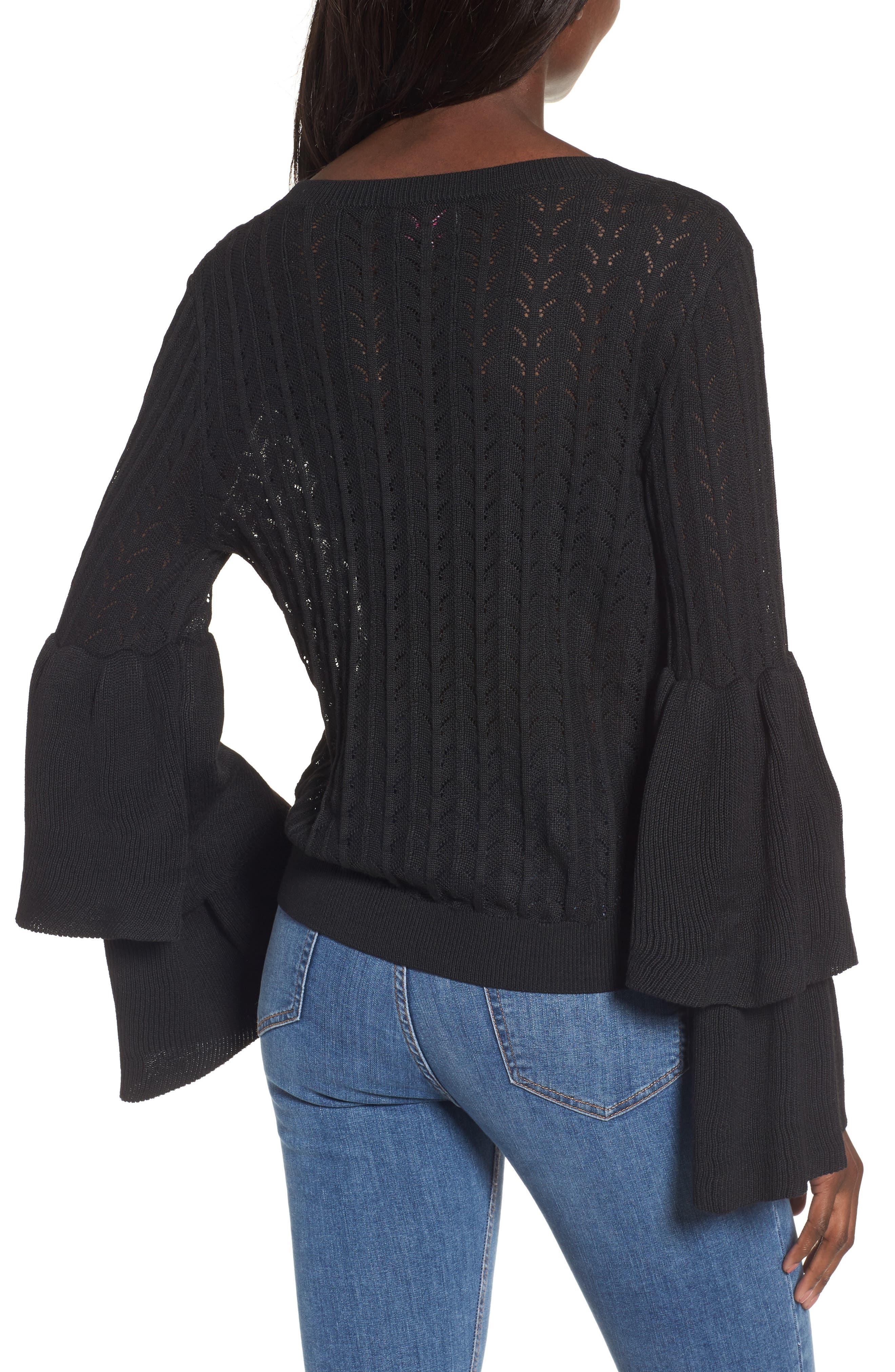 Molly Ruffle Sweater,                             Alternate thumbnail 2, color,                             001