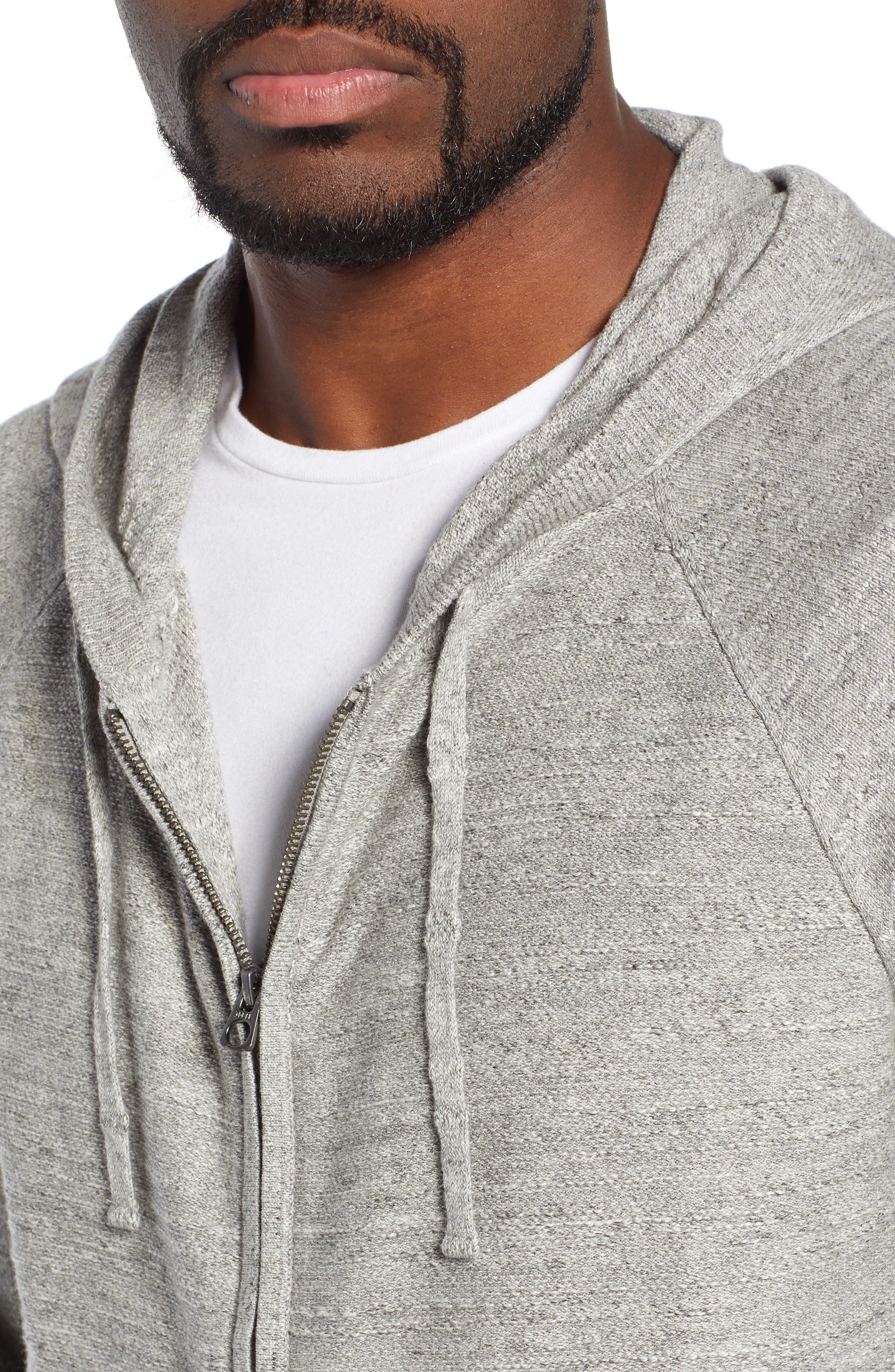 Rugged Raglan Sleeve Cotton Hoodie,                             Alternate thumbnail 4, color,                             020