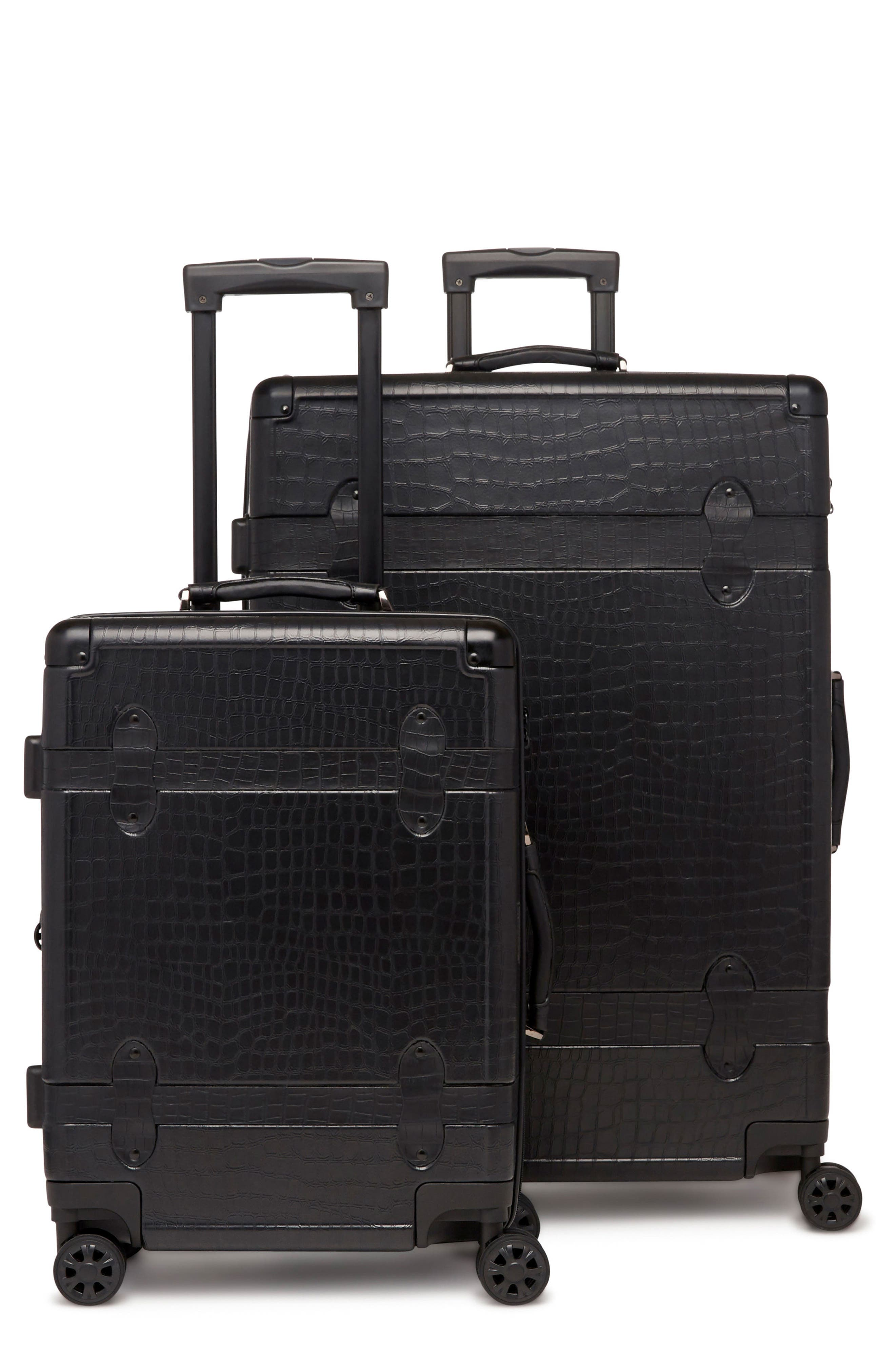 20-Inch & 28-Inch Trunk Rolling Luggage Set,                             Main thumbnail 1, color,                             NOIR