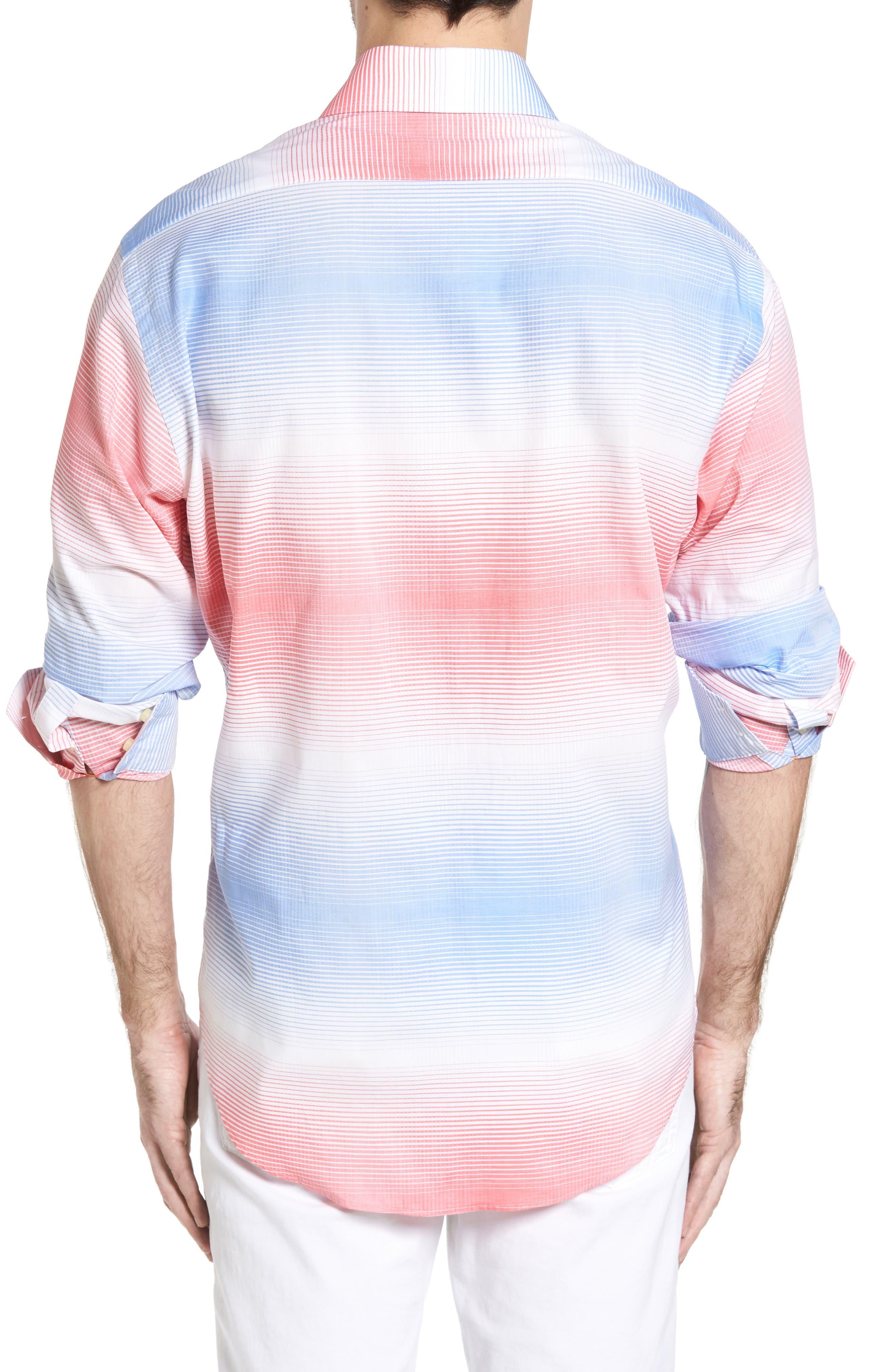 Classic Fit Graduated Check Sport Shirt,                             Alternate thumbnail 2, color,                             420