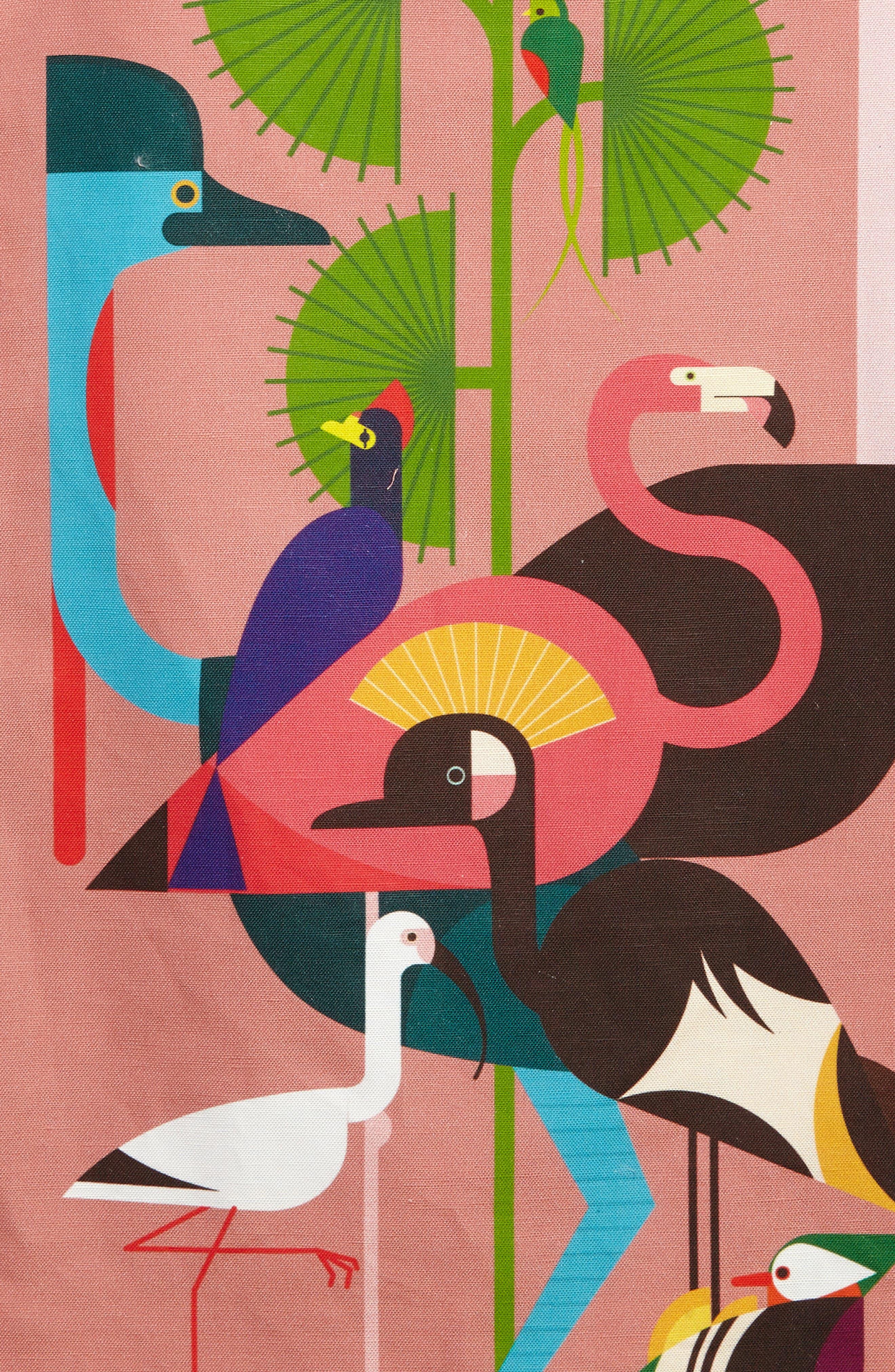 Rose Bird Shift Dress,                             Alternate thumbnail 3, color,