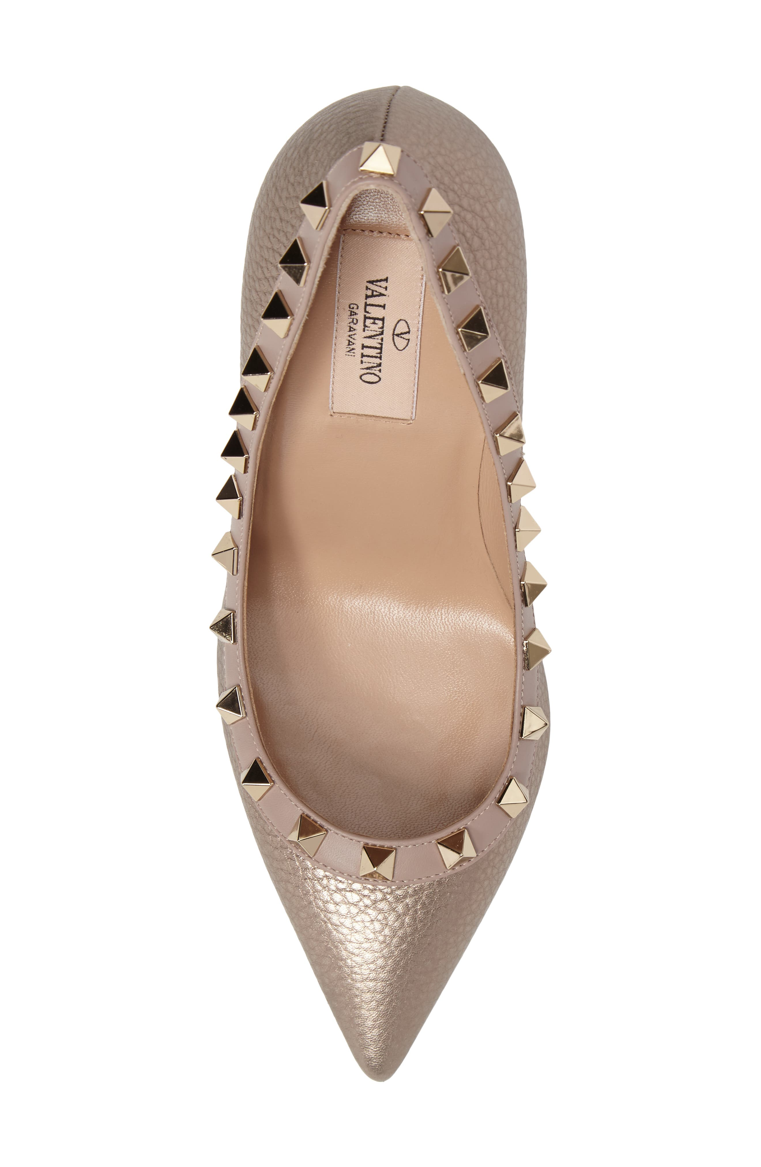 Rockstud Pointy Toe Pump,                             Alternate thumbnail 5, color,                             710