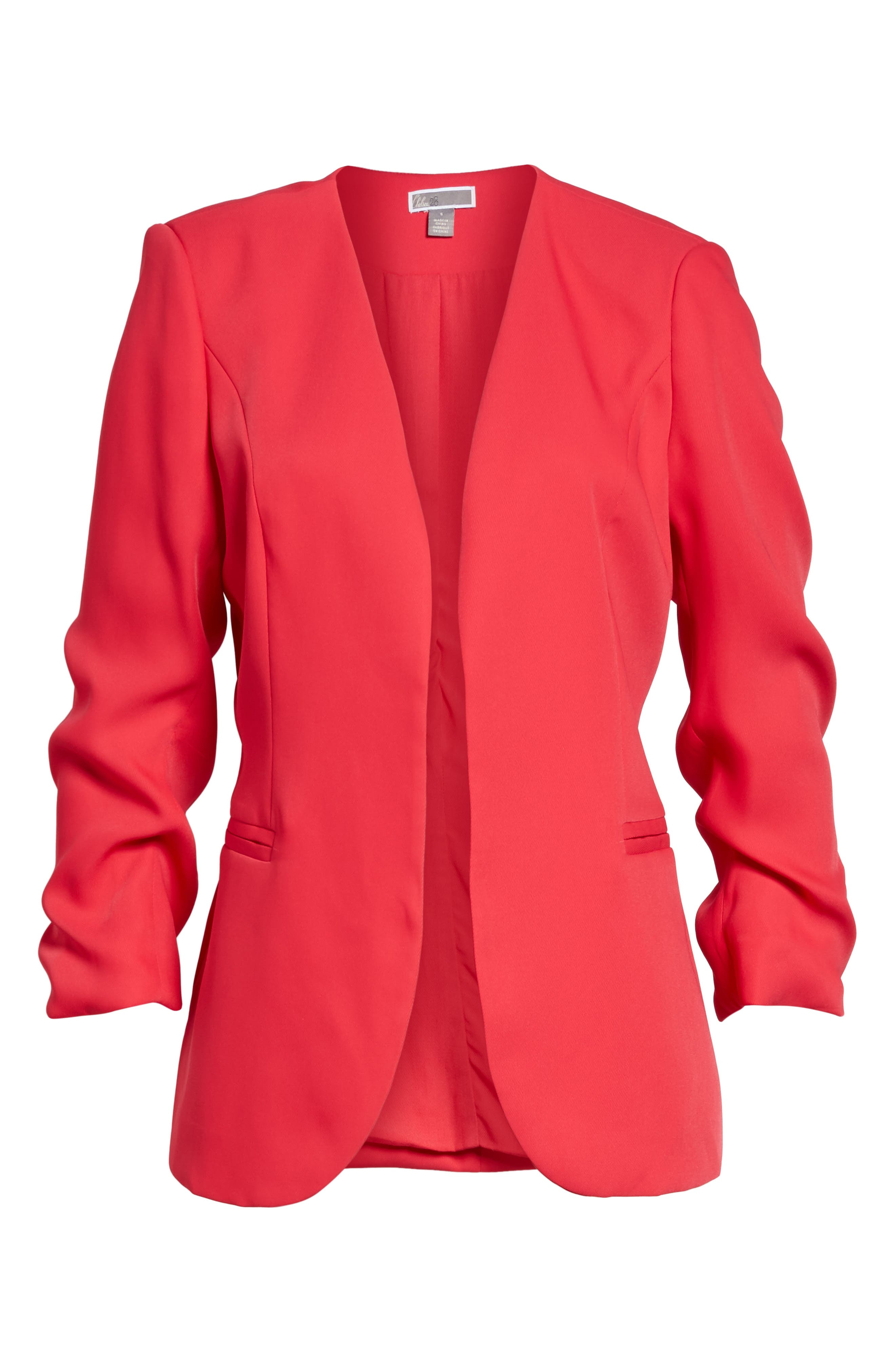 Ruched Sleeve Blazer,                             Alternate thumbnail 10, color,