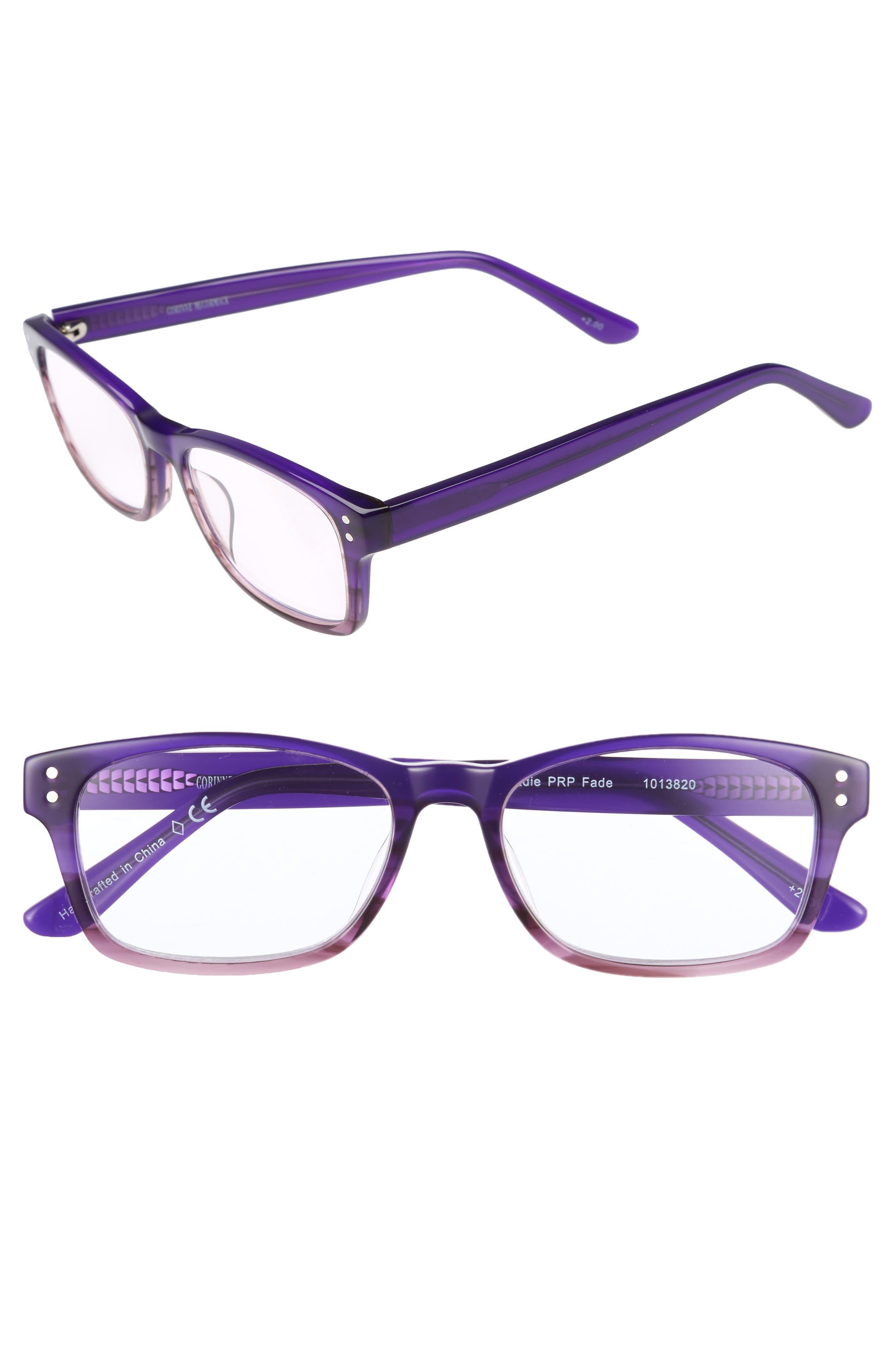 Edie 50mm Reading Glasses,                             Main thumbnail 1, color,                             500