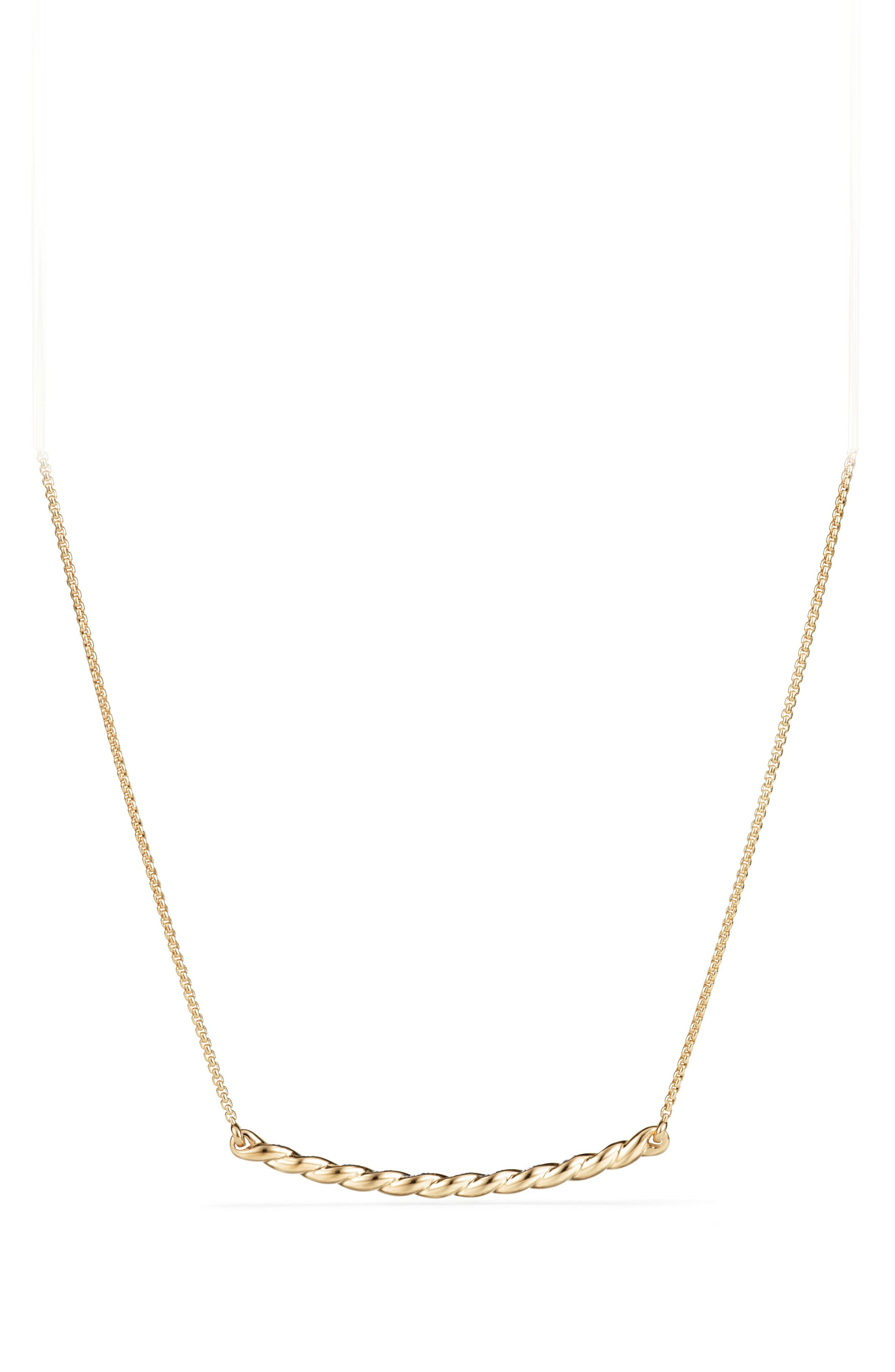 Paveflex Station Necklace with Diamonds in 18K Gold,                             Alternate thumbnail 2, color,                             YELLOW GOLD/ DIAMOND