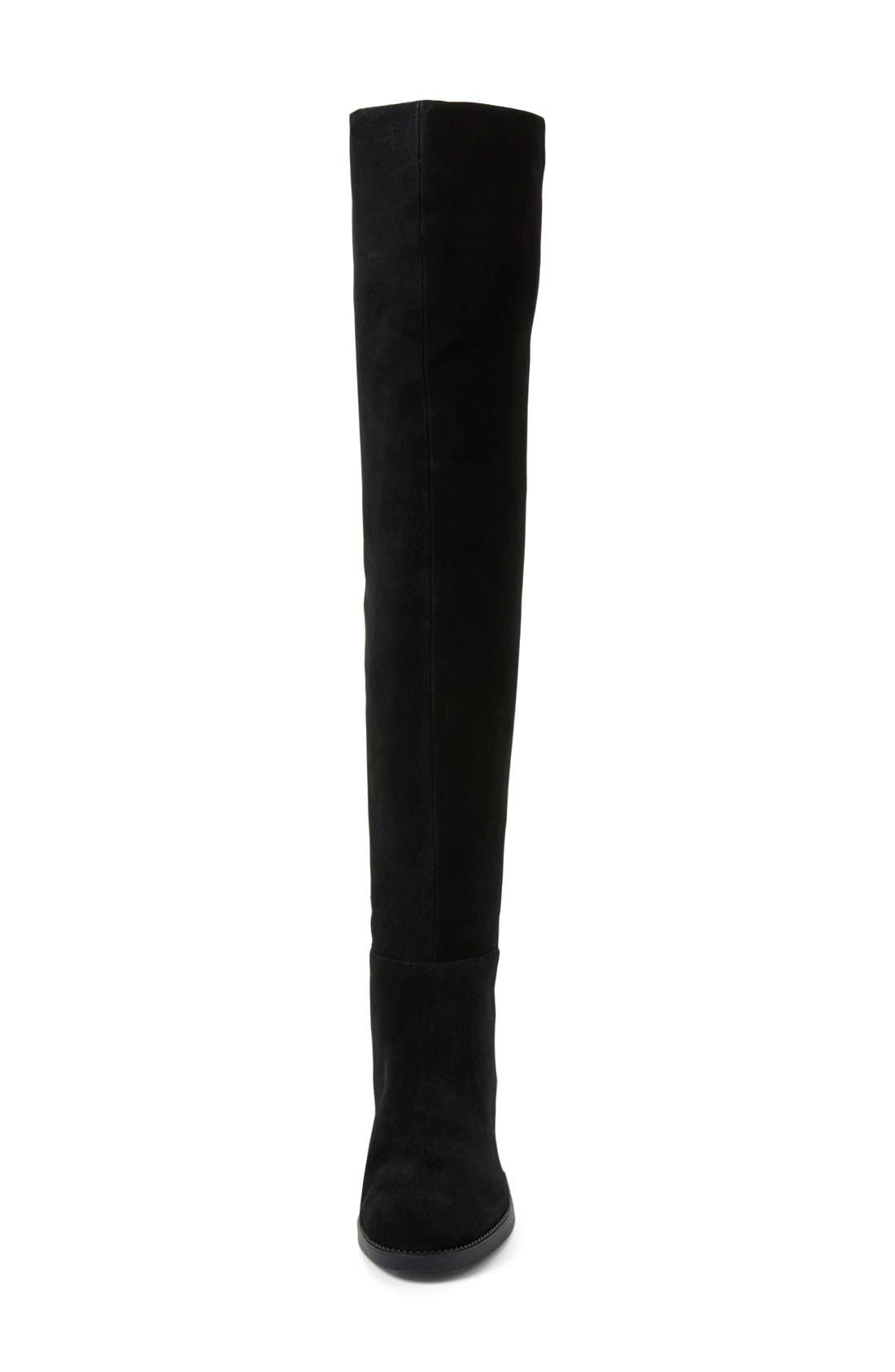 TORY BURCH,                             'Caitlin' Over the Knee Boot,                             Alternate thumbnail 4, color,                             001