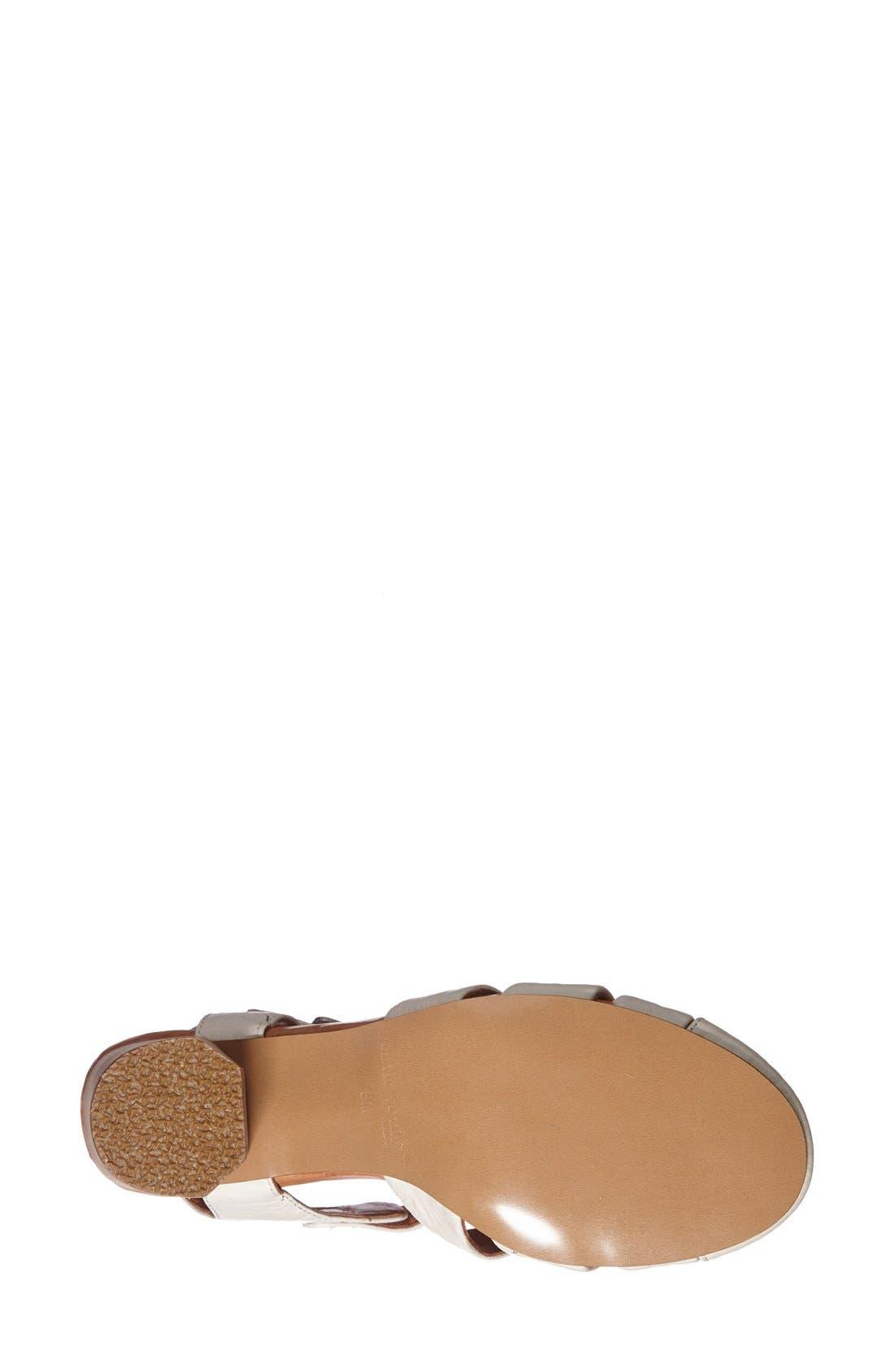 Gentle Souls 'Lucerine' Quarter Strap Closed Toe Leather Sandal,                             Alternate thumbnail 2, color,                             040