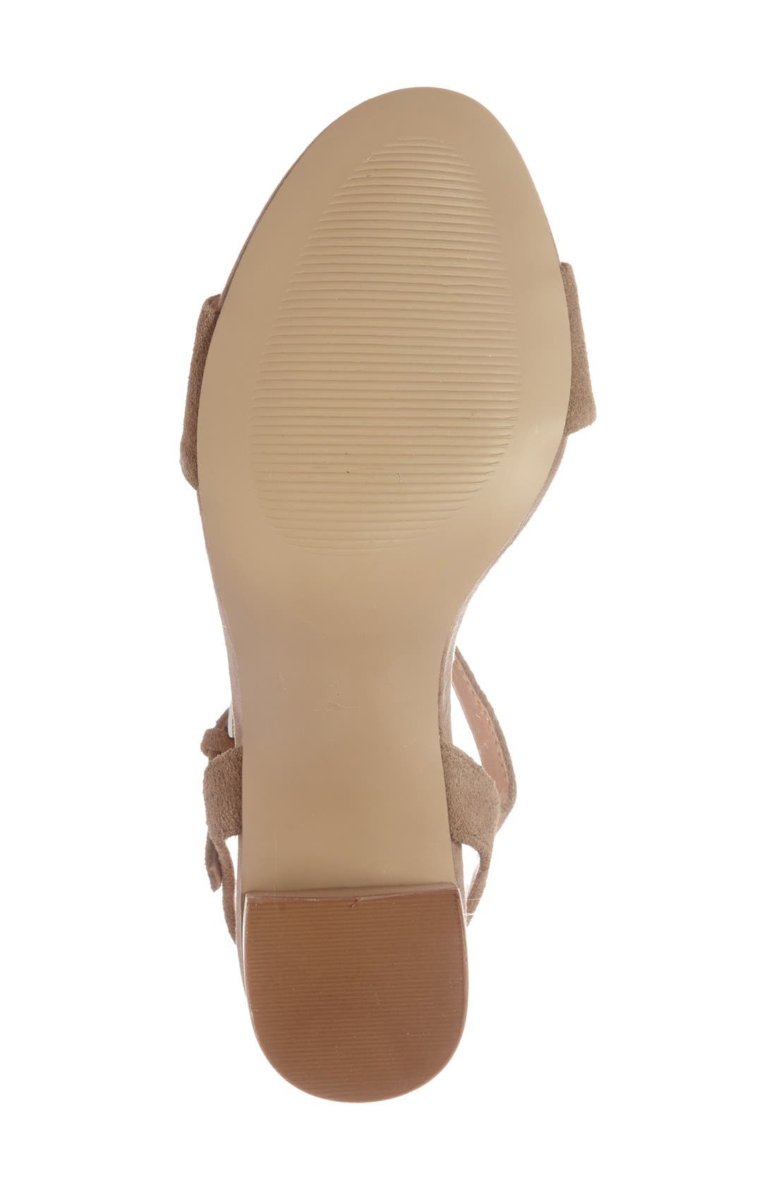 'Linny' Ankle Strap Sandal,                             Alternate thumbnail 18, color,