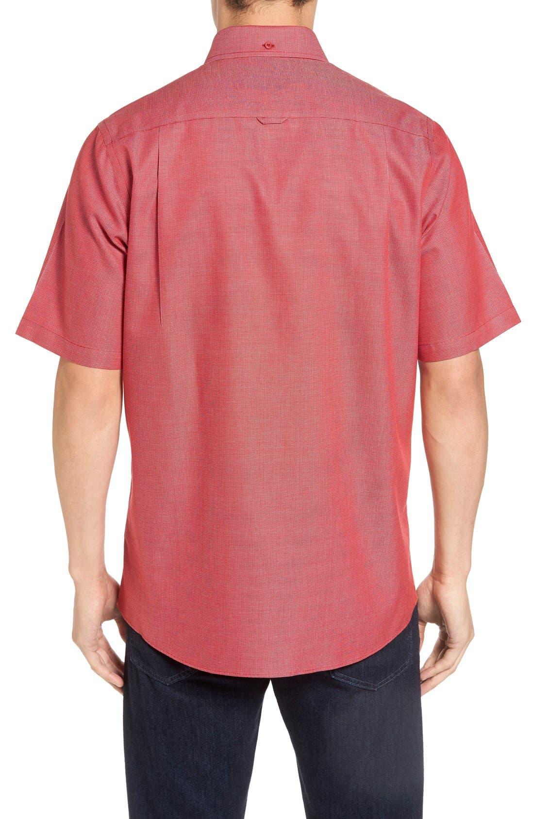 'Classic' Smartcare<sup>™</sup> Regular Fit Short Sleeve Cotton Sport Shirt,                             Alternate thumbnail 42, color,