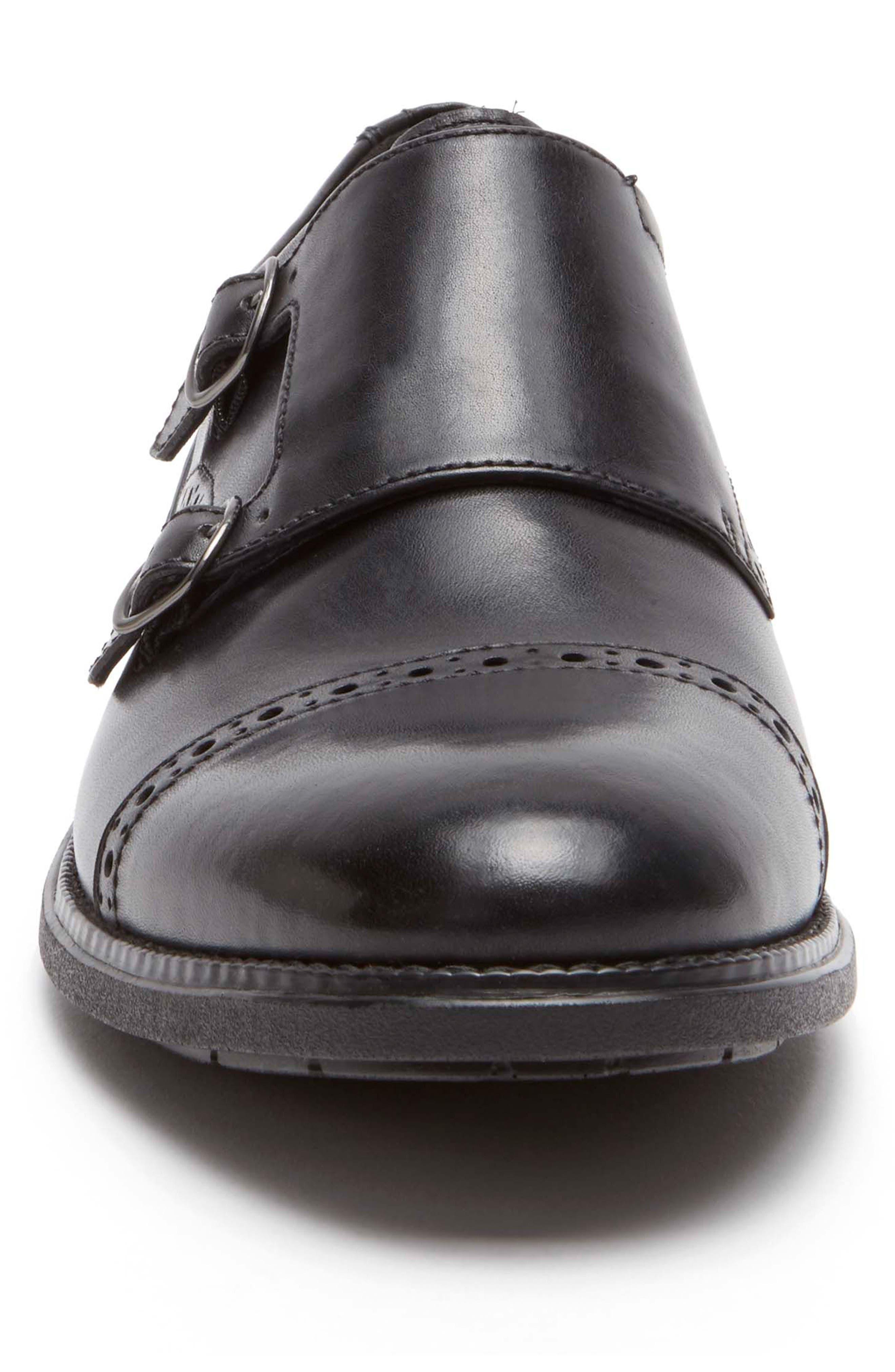 Madson Double Monk Strap Shoe,                             Alternate thumbnail 4, color,                             001