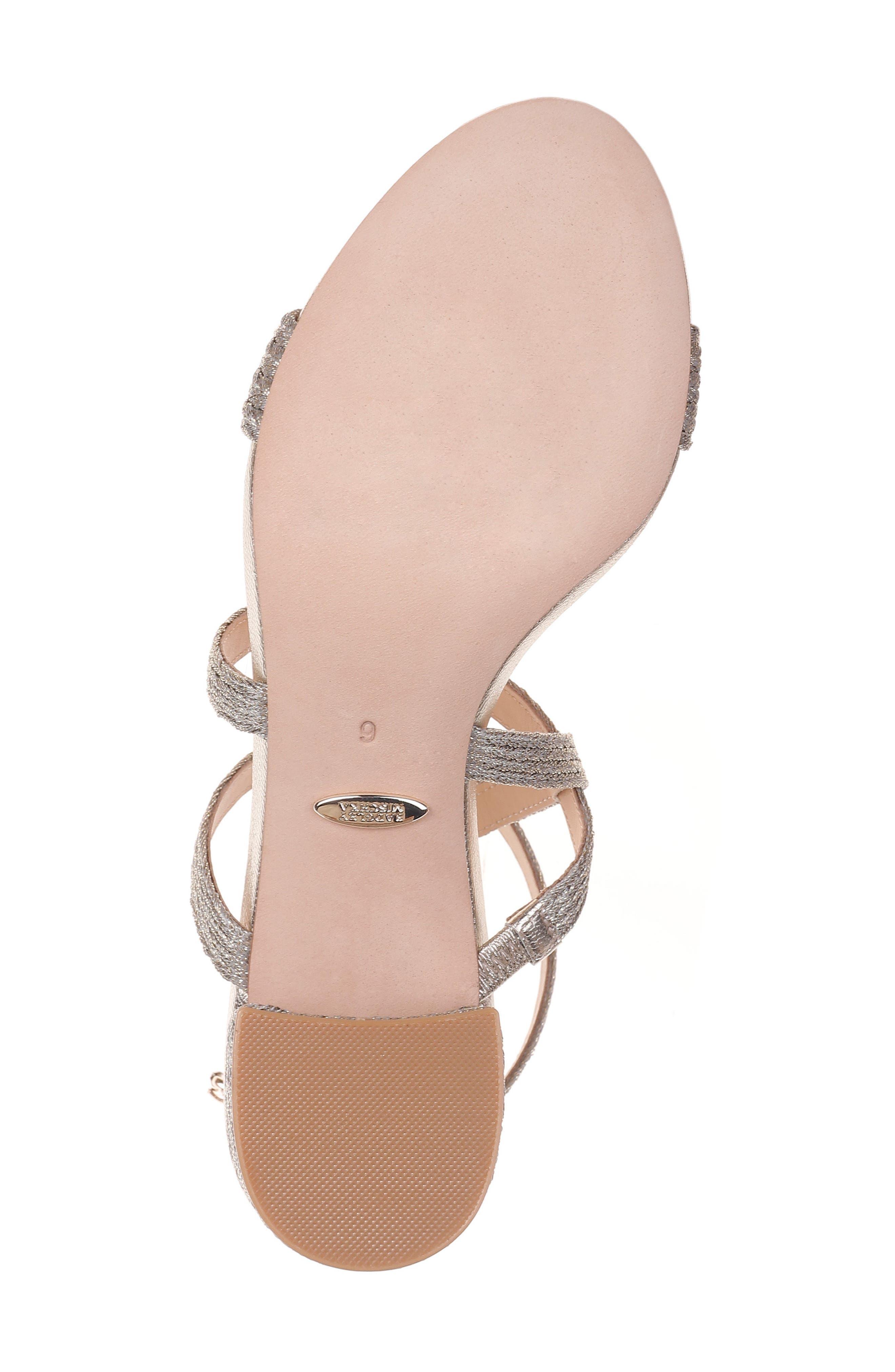 Storm Block Heel Sandal,                             Alternate thumbnail 6, color,                             PLATINO FABRIC