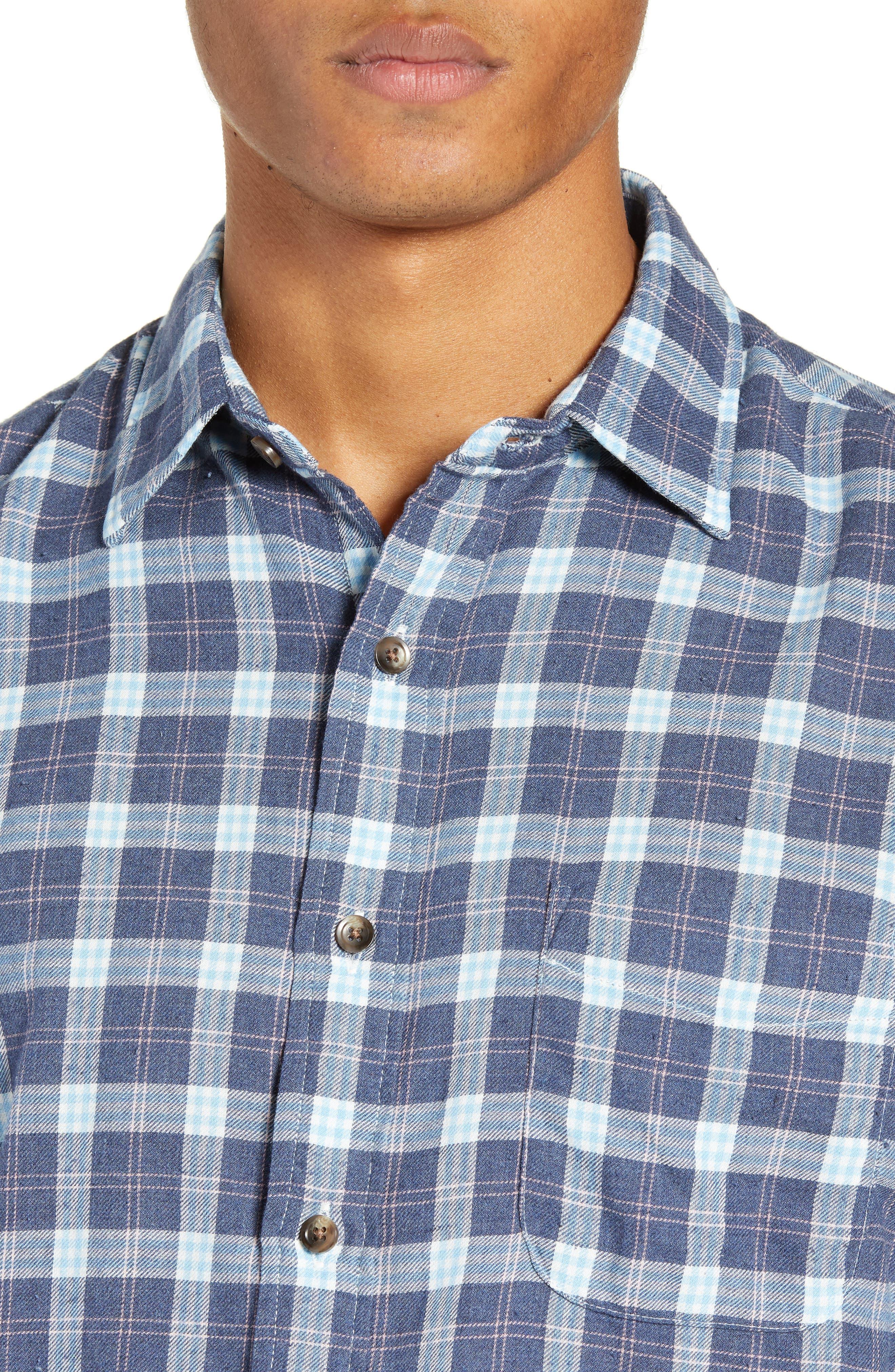 Brushed Alpine Regular Fit Flannel Shirt,                             Alternate thumbnail 2, color,                             INDIGO BLUE CORAL