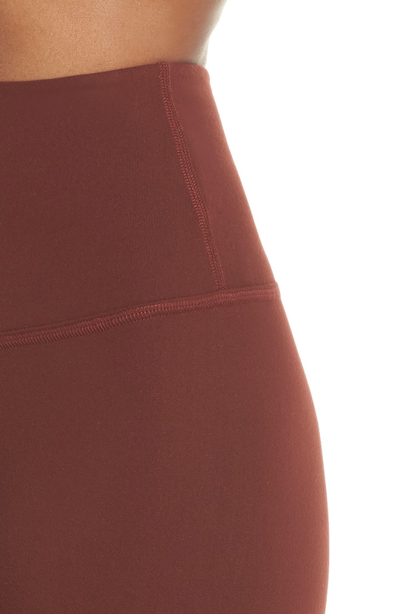 High Waist Leggings,                             Alternate thumbnail 4, color,                             RED ROCK