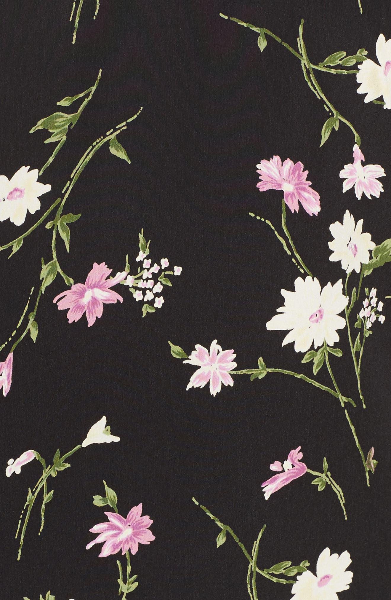Tie Back Flutter Sleeve Top,                             Alternate thumbnail 5, color,                             001