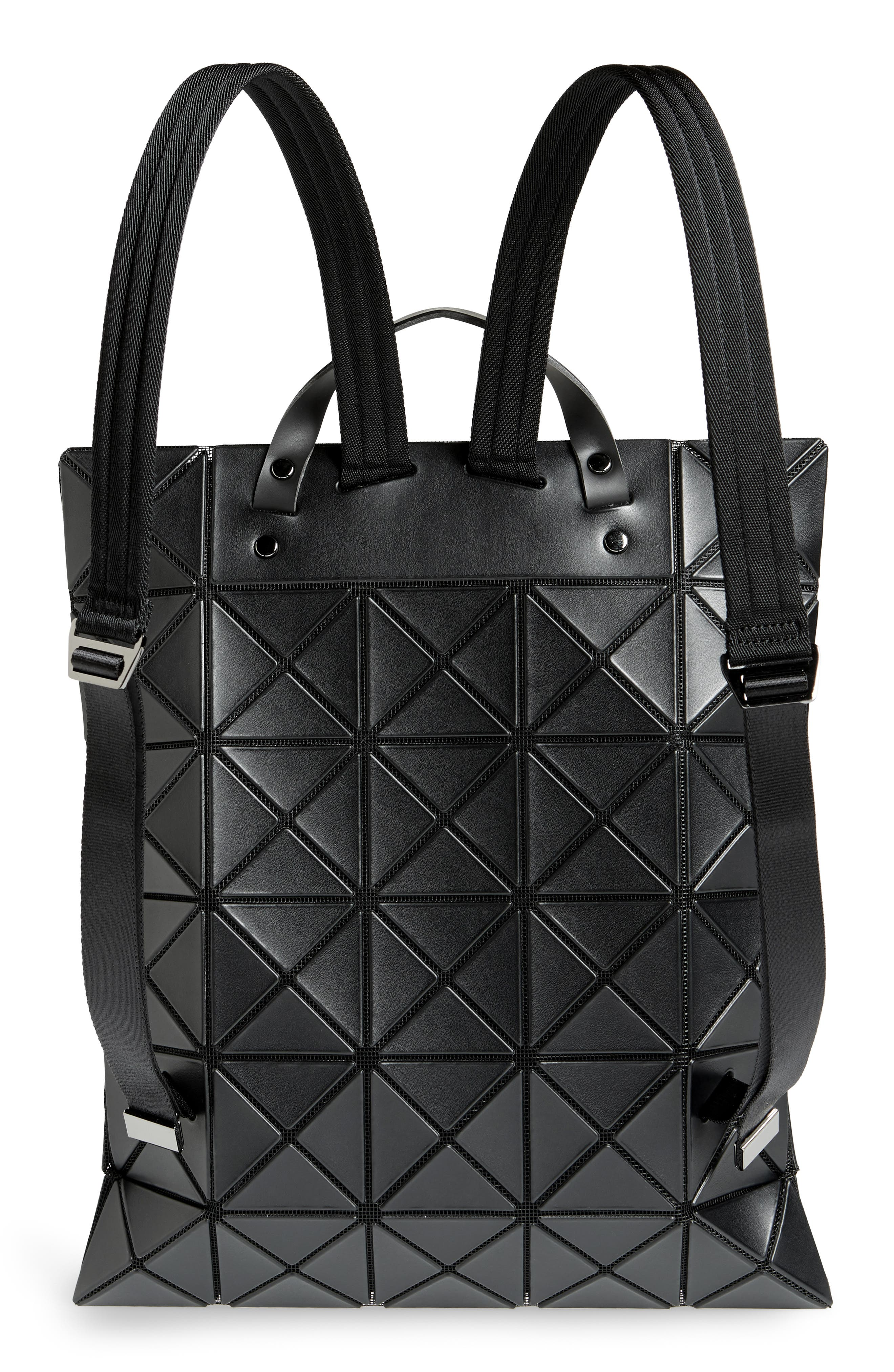 Flat Backpack,                             Alternate thumbnail 3, color,                             MATTE BLACK