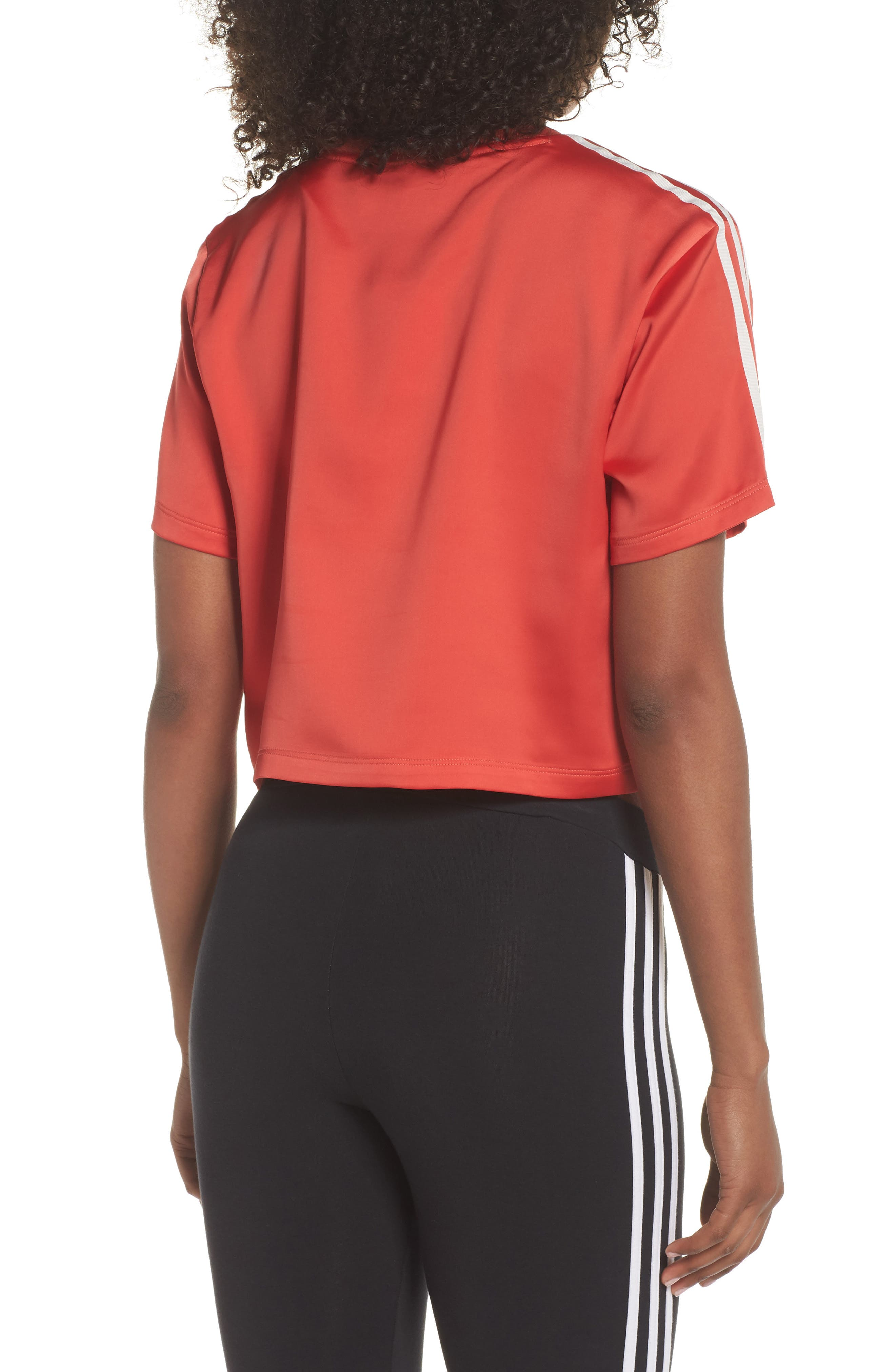 Originals Adibreak Tee,                             Alternate thumbnail 2, color,                             AMAZON RED