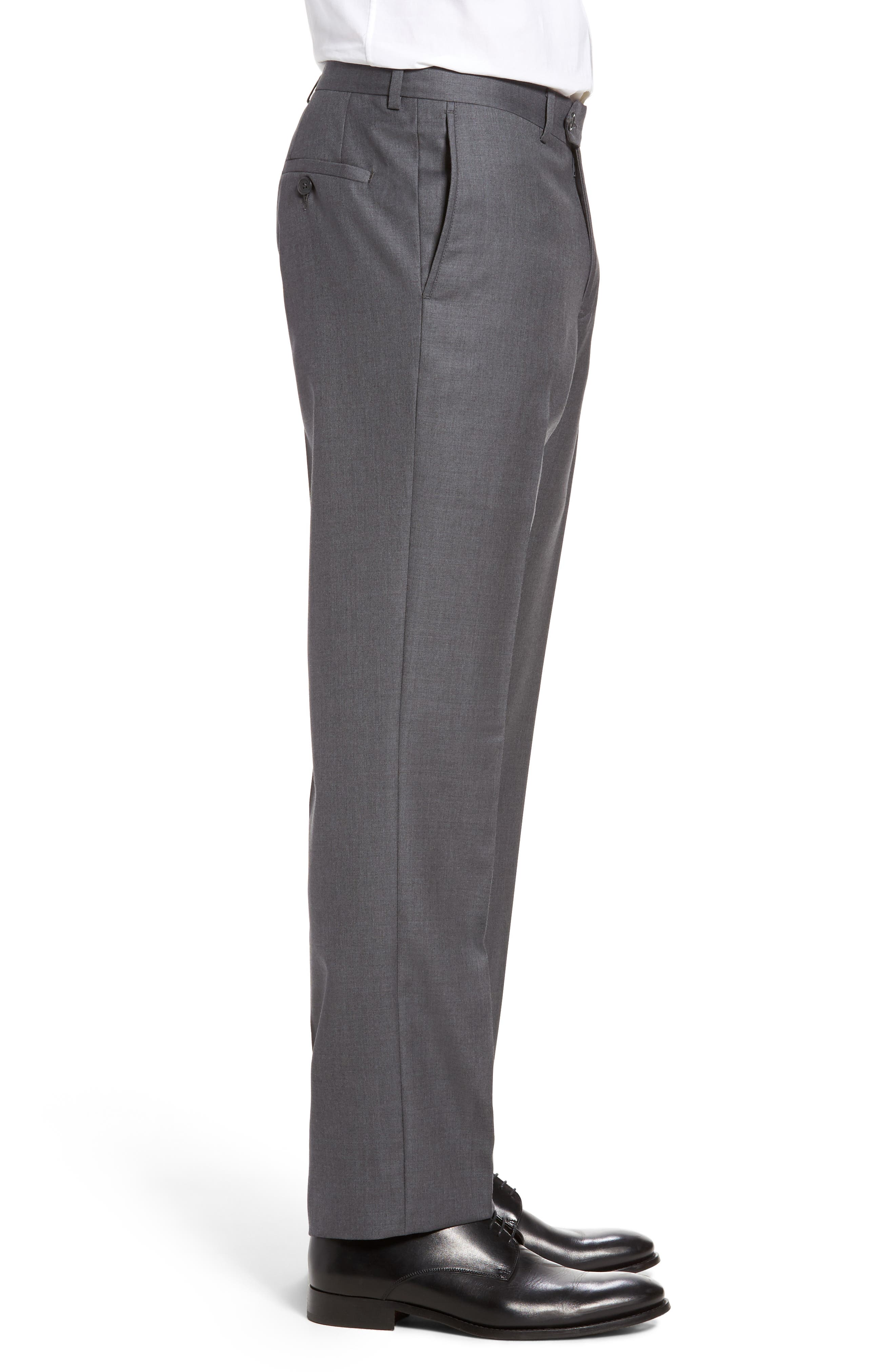 Flat Front Solid Wool Trousers,                             Alternate thumbnail 20, color,