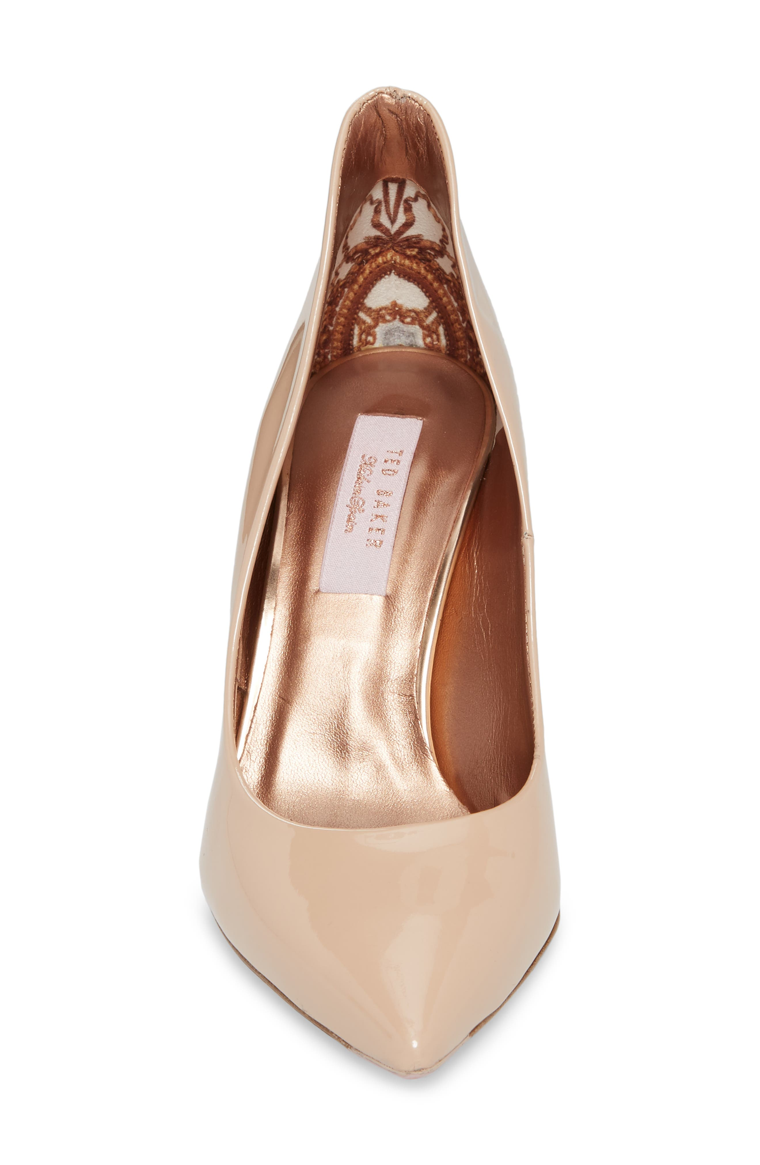 Savio Pump,                             Alternate thumbnail 4, color,                             NUDE PATENT LEATHER