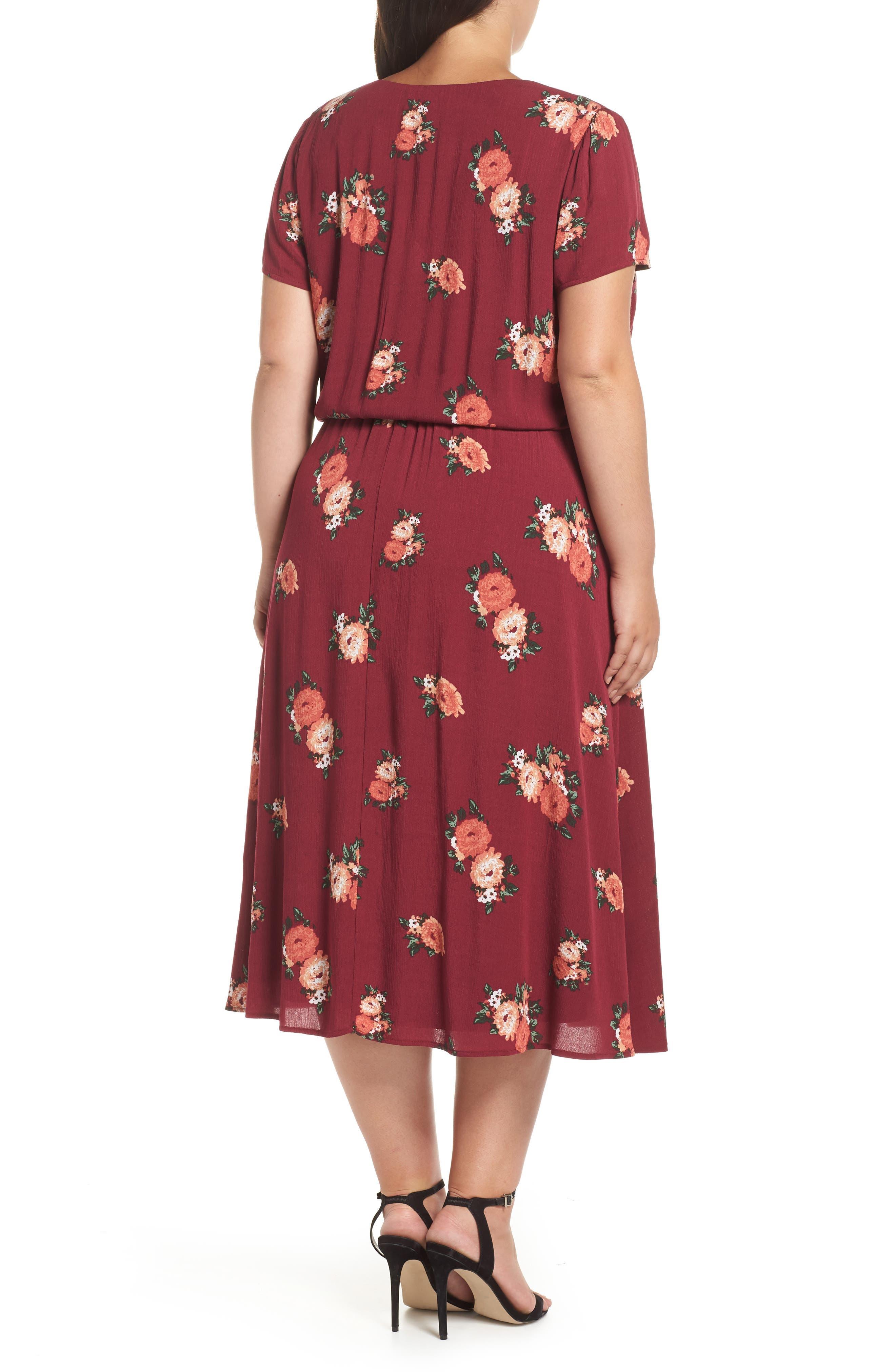 Blouson Midi Dress,                             Alternate thumbnail 2, color,                             606