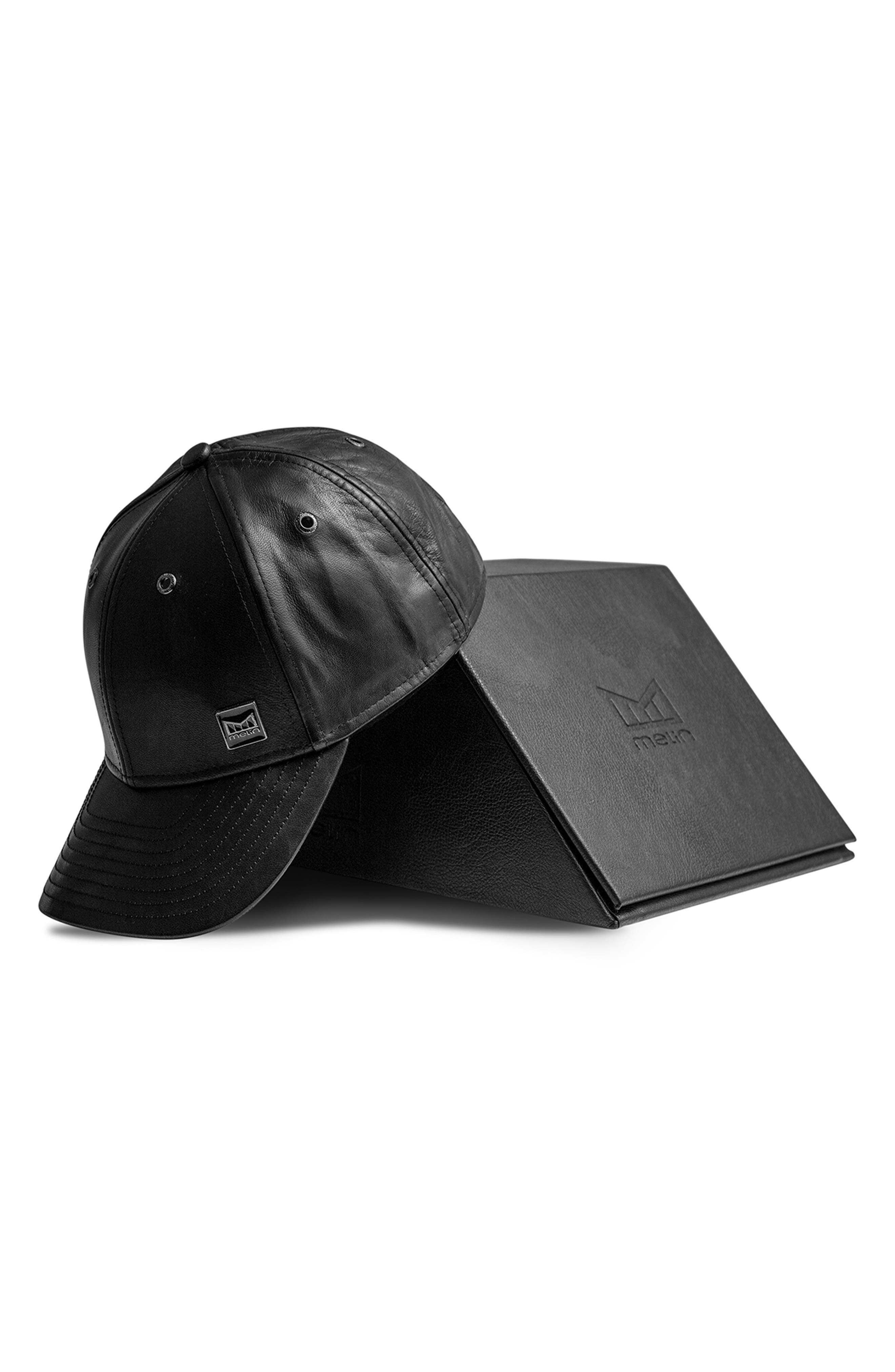 Voyage Elite Leather Ball Cap,                             Alternate thumbnail 6, color,                             BLACK
