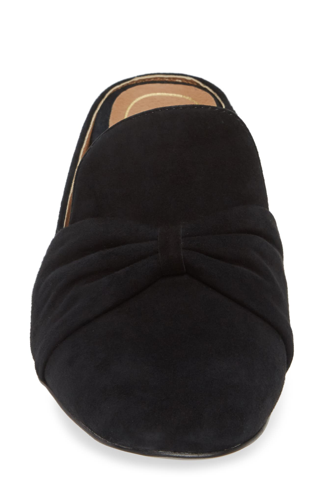 Presley Mule,                             Alternate thumbnail 4, color,                             BLACK SUEDE