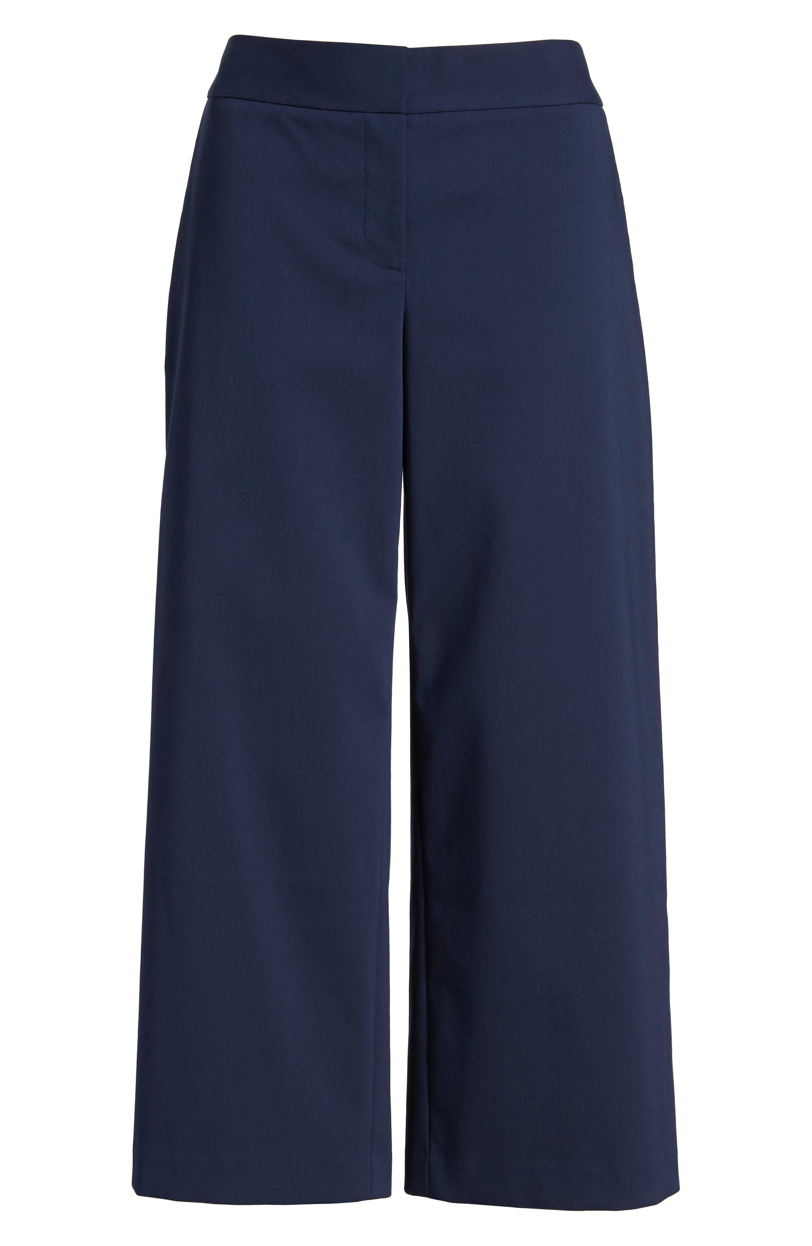 Wide Leg Crop Pants,                             Alternate thumbnail 7, color,                             410
