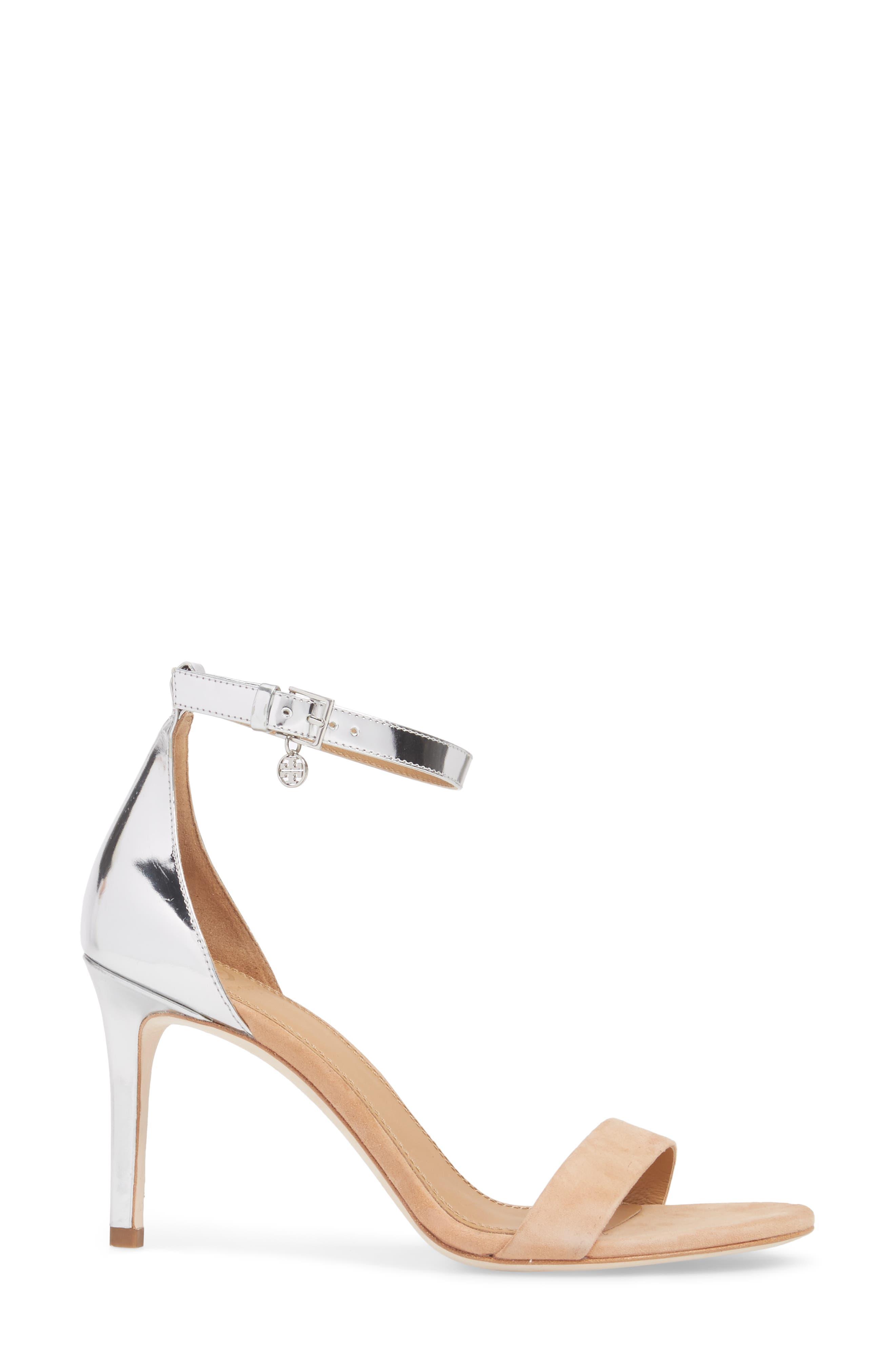 Ellie Ankle Strap Sandal,                             Alternate thumbnail 3, color,                             020