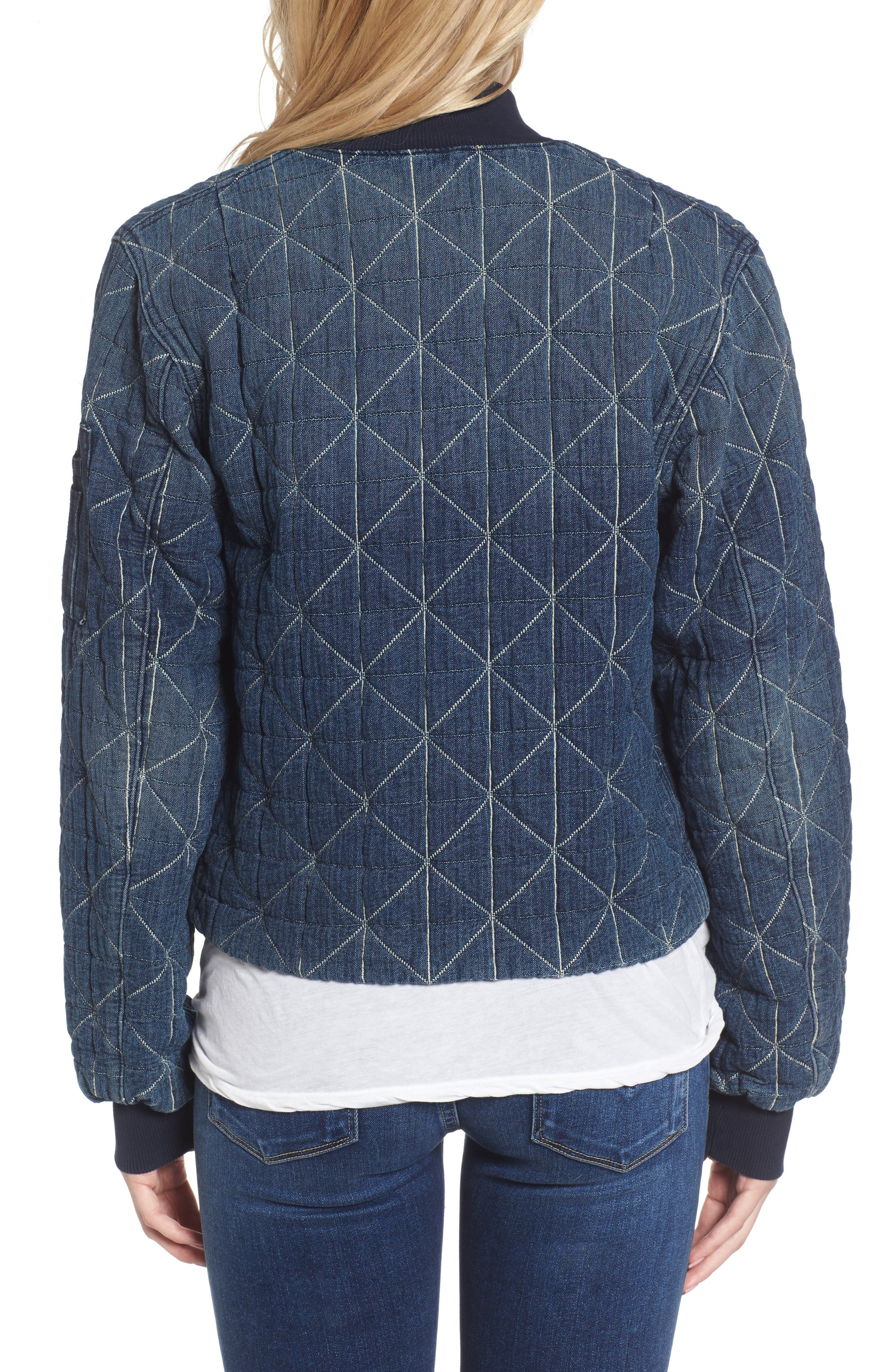 Gene Quilted Bomber Jacket,                             Alternate thumbnail 2, color,                             420