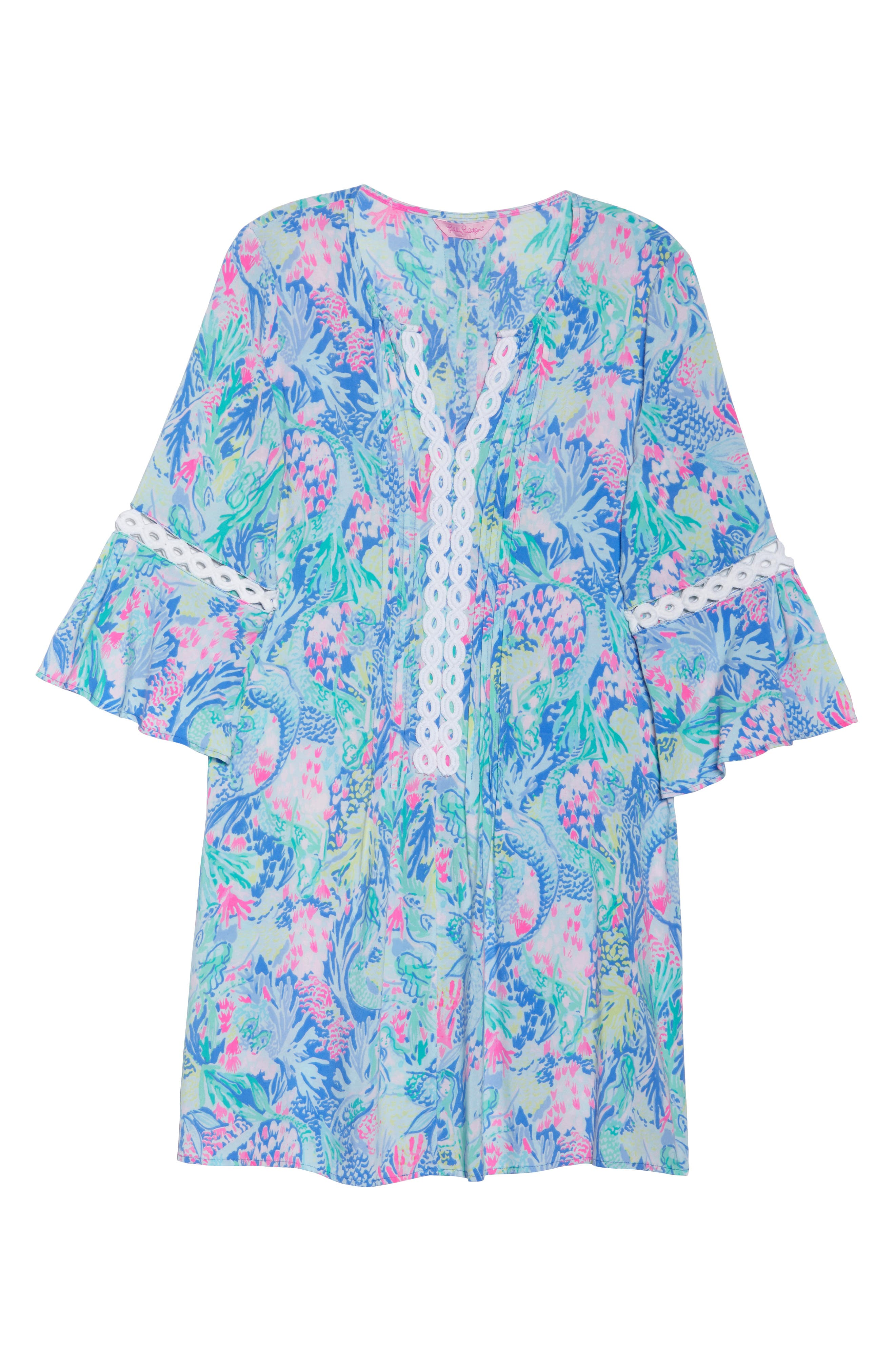 LILLY PULITZER<SUP>®</SUP>,                             Hollie Tunic Dress,                             Alternate thumbnail 7, color,                             MULTI MERMAIDS COVE