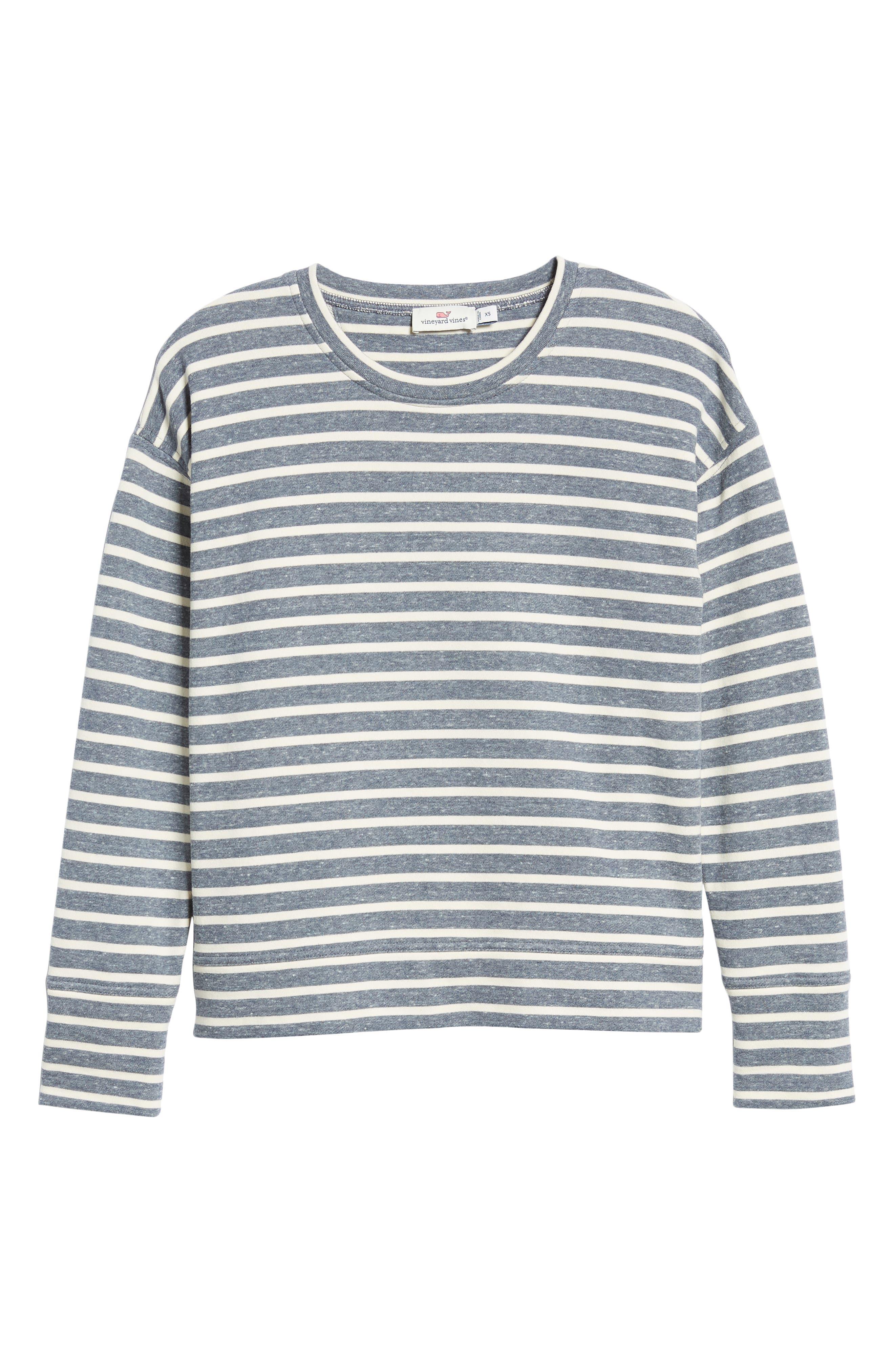 Stripe Sweatshirt,                             Alternate thumbnail 6, color,                             461