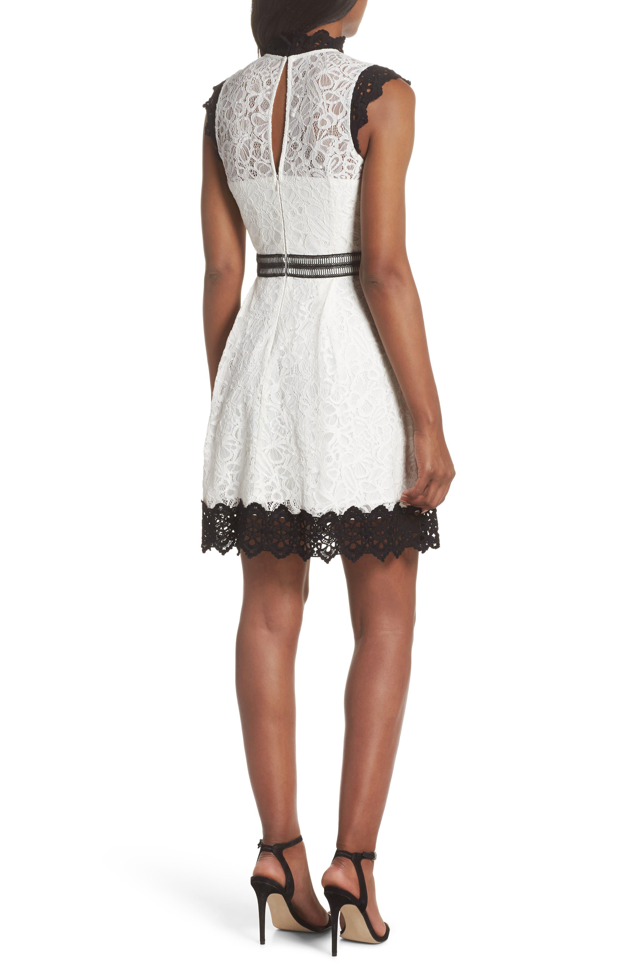 Hilda Fit & Flare Dress,                             Alternate thumbnail 2, color,                             100