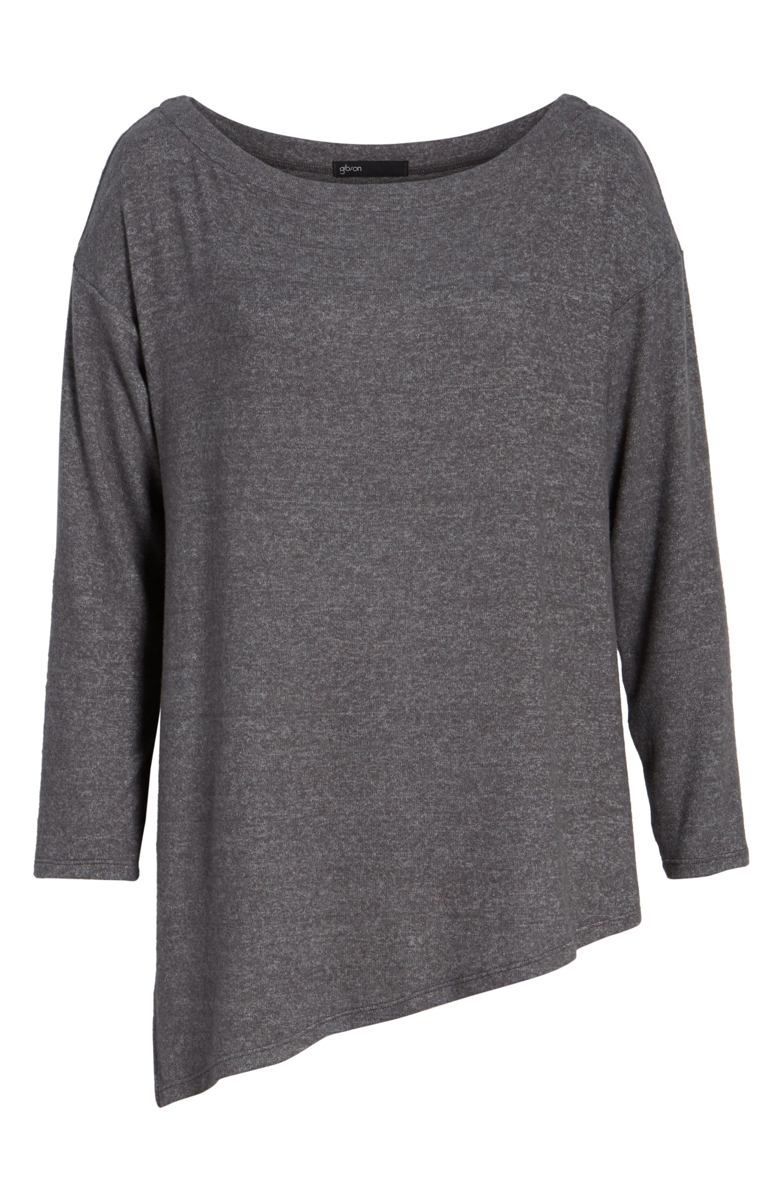 Asymmetrical Cozy Fleece Convertible Top,                             Alternate thumbnail 7, color,                             020