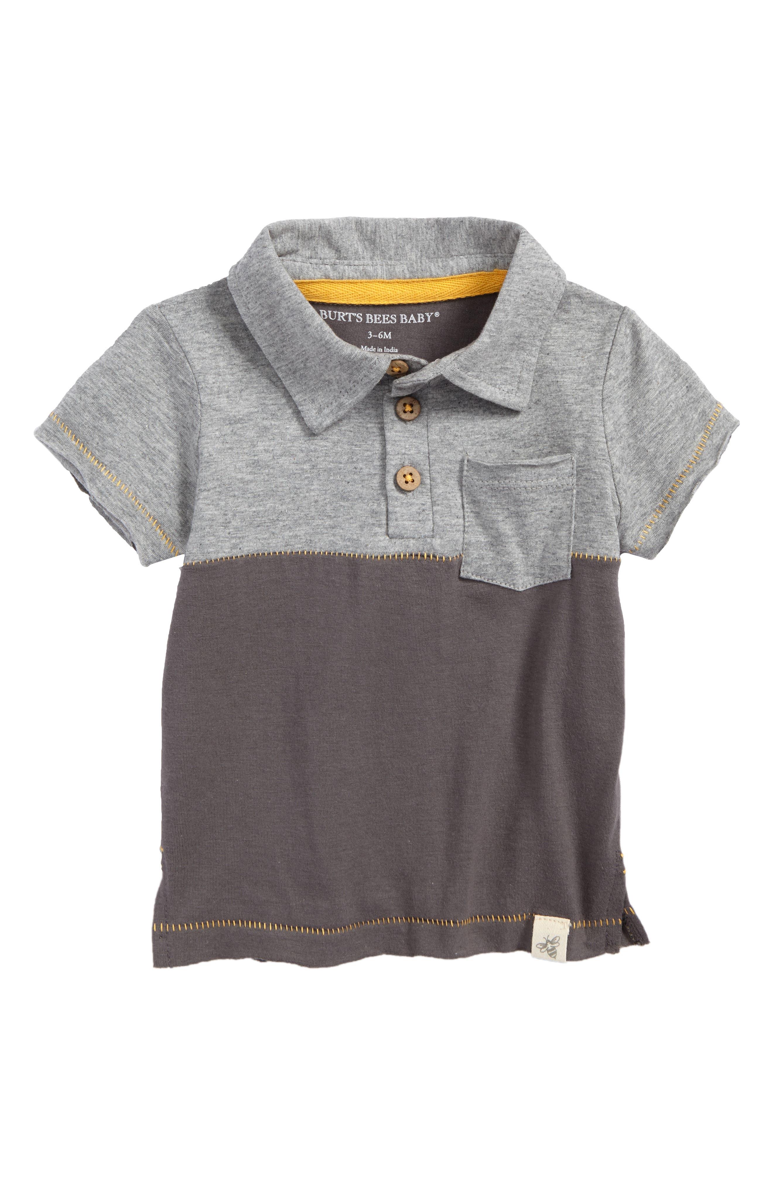 Colorblock Organic Cotton Polo,                         Main,                         color,