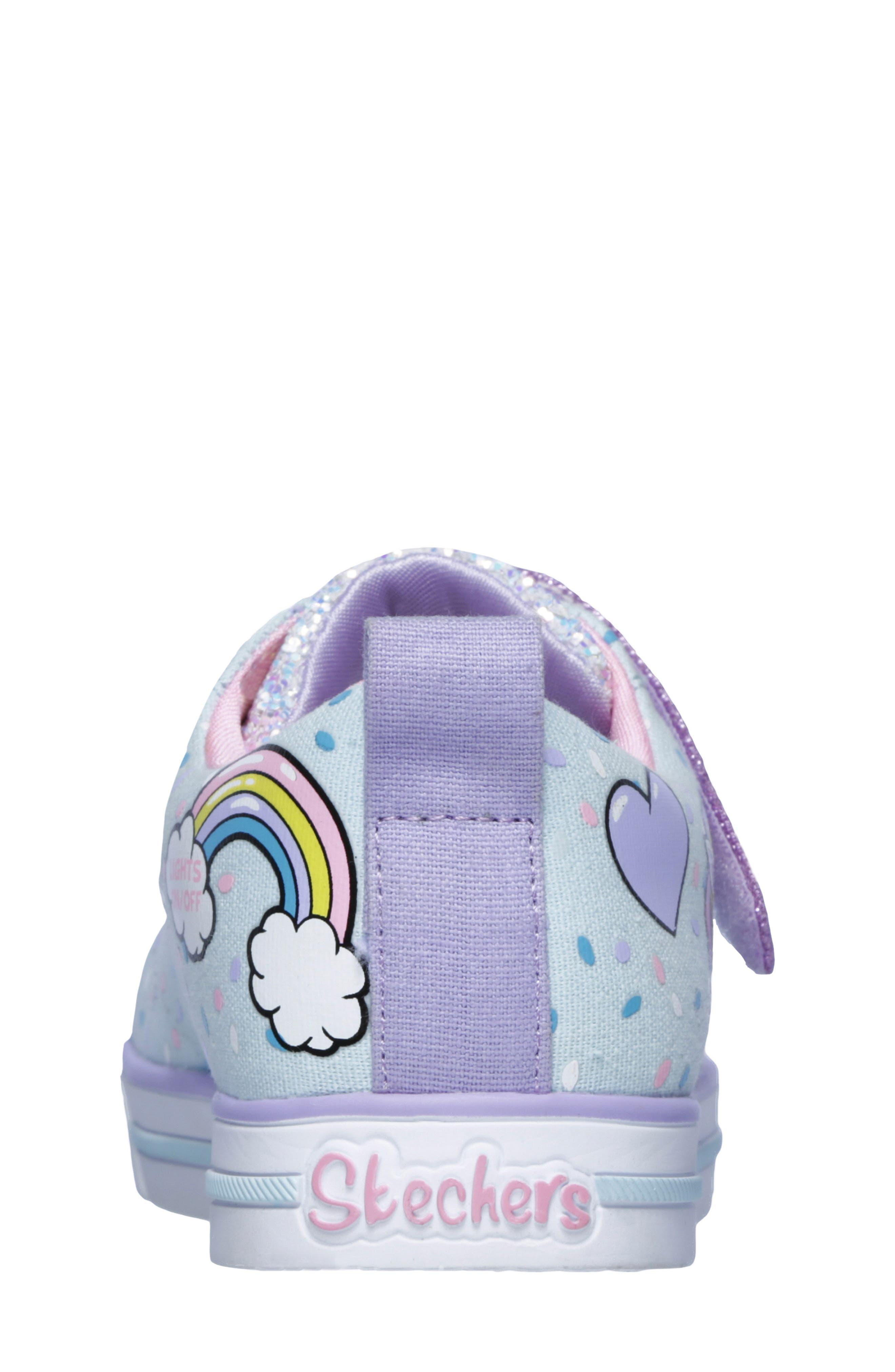 Twinkle Toes Unicorn Light-Up Sneaker,                             Alternate thumbnail 2, color,                             LIGHT BLUE/ MULTI