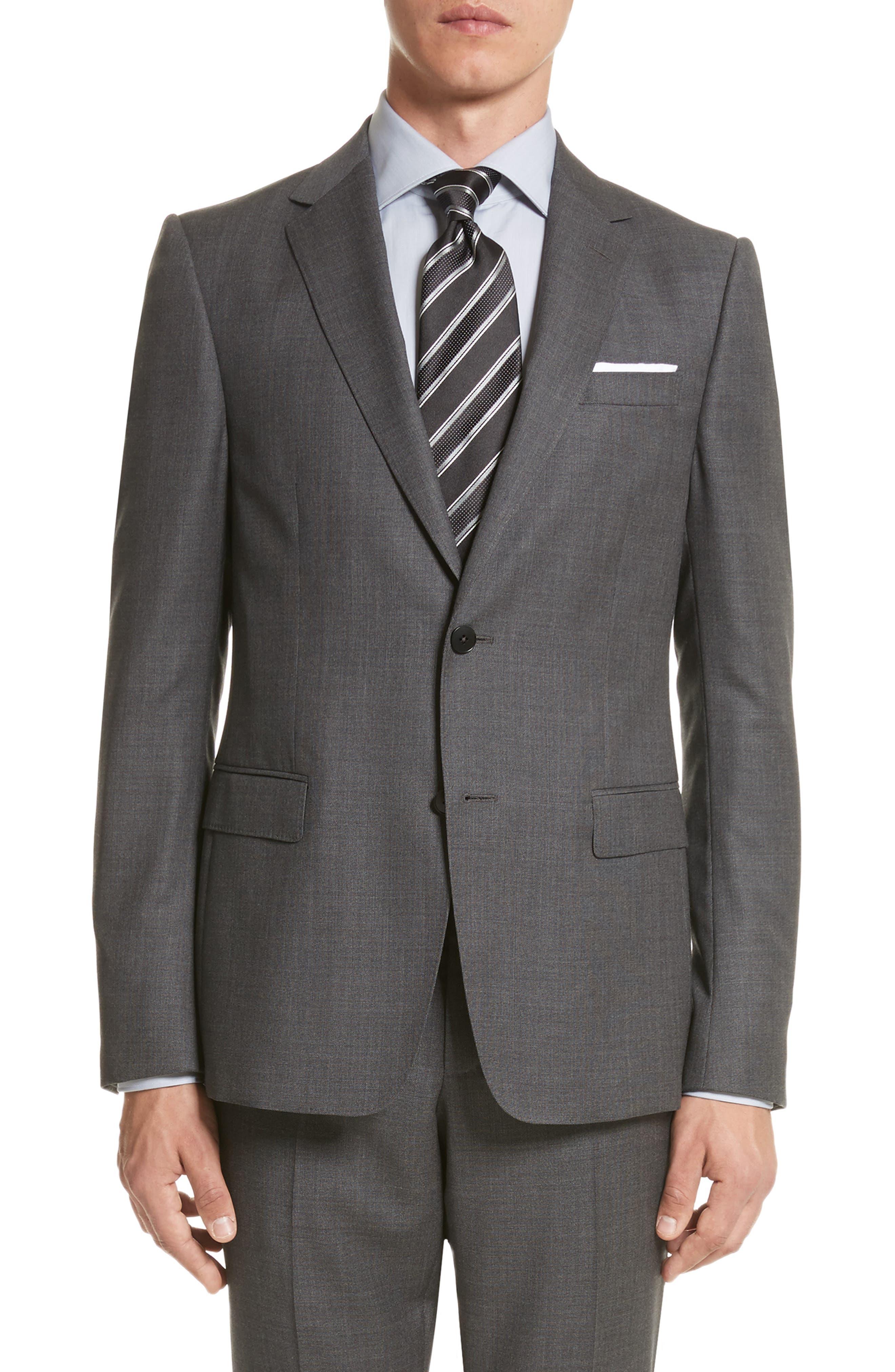 Z ZEGNA,                             Classic Fit Wool Suit,                             Alternate thumbnail 5, color,                             022