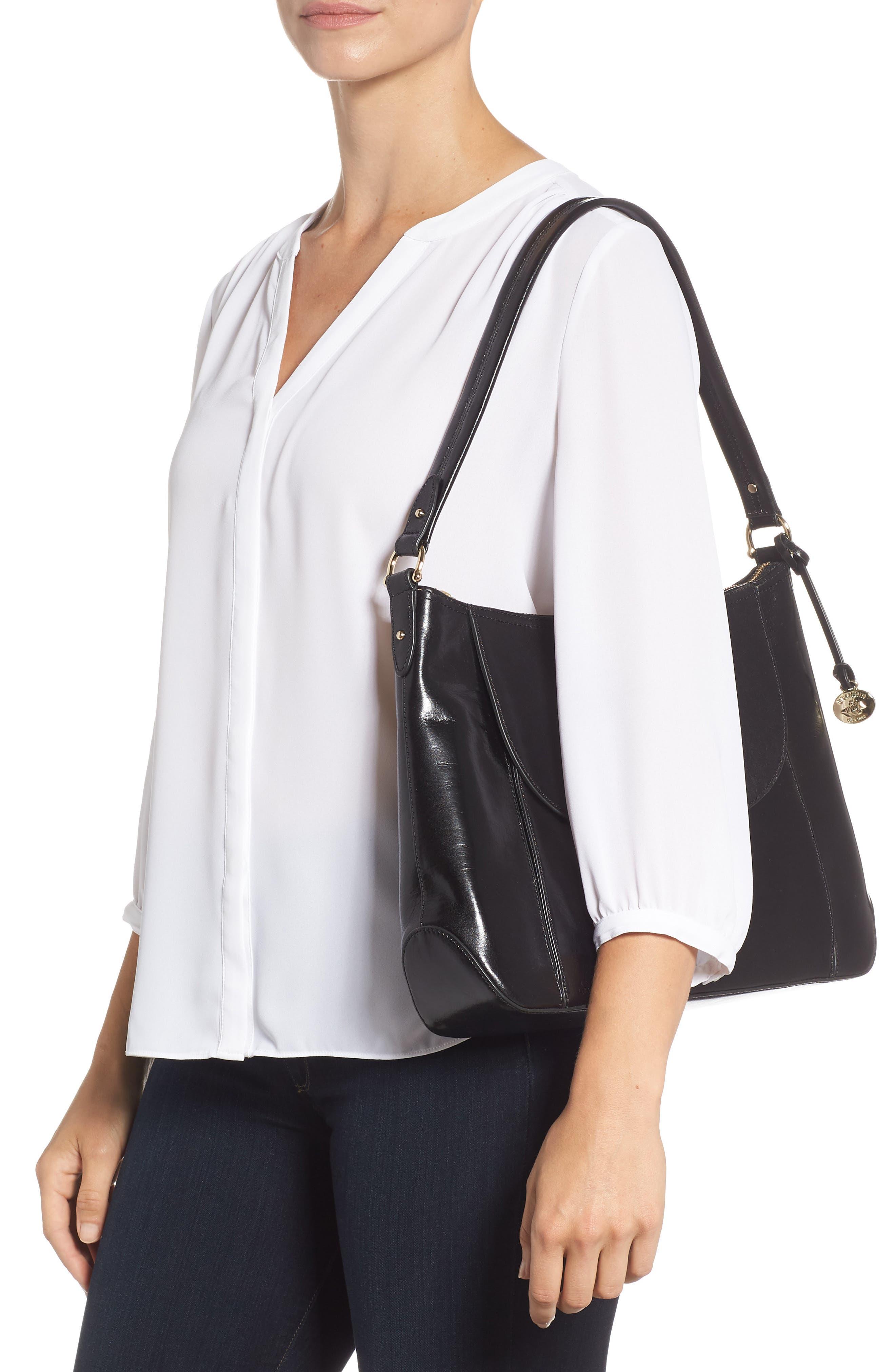 Weslynn Leather Shoulder Bag,                             Alternate thumbnail 2, color,                             BLACK