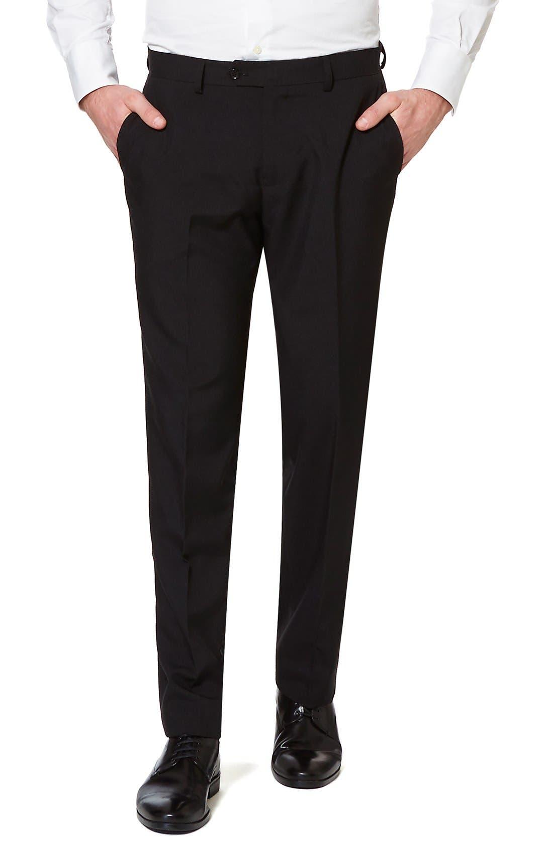 'Black Knight' Trim Fit Two-Piece Suit with Tie,                             Alternate thumbnail 3, color,                             001