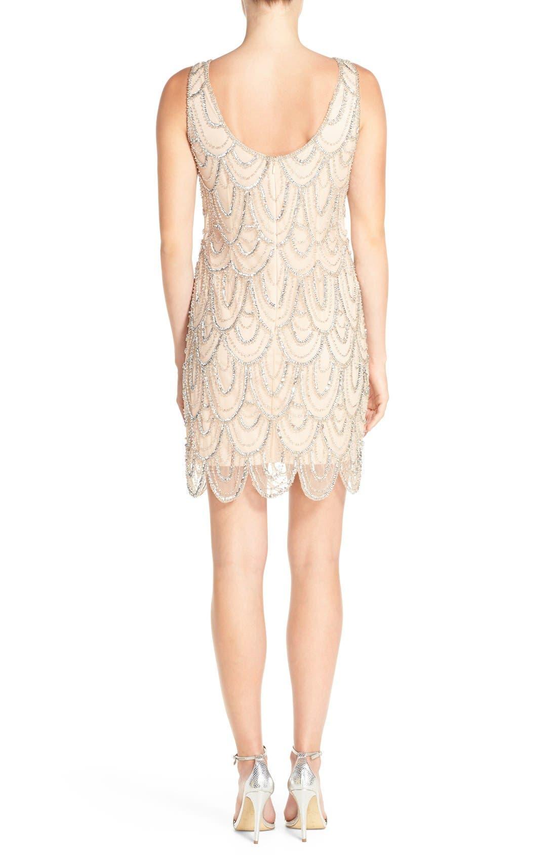 Embellished Mesh Sheath Dress,                             Alternate thumbnail 89, color,