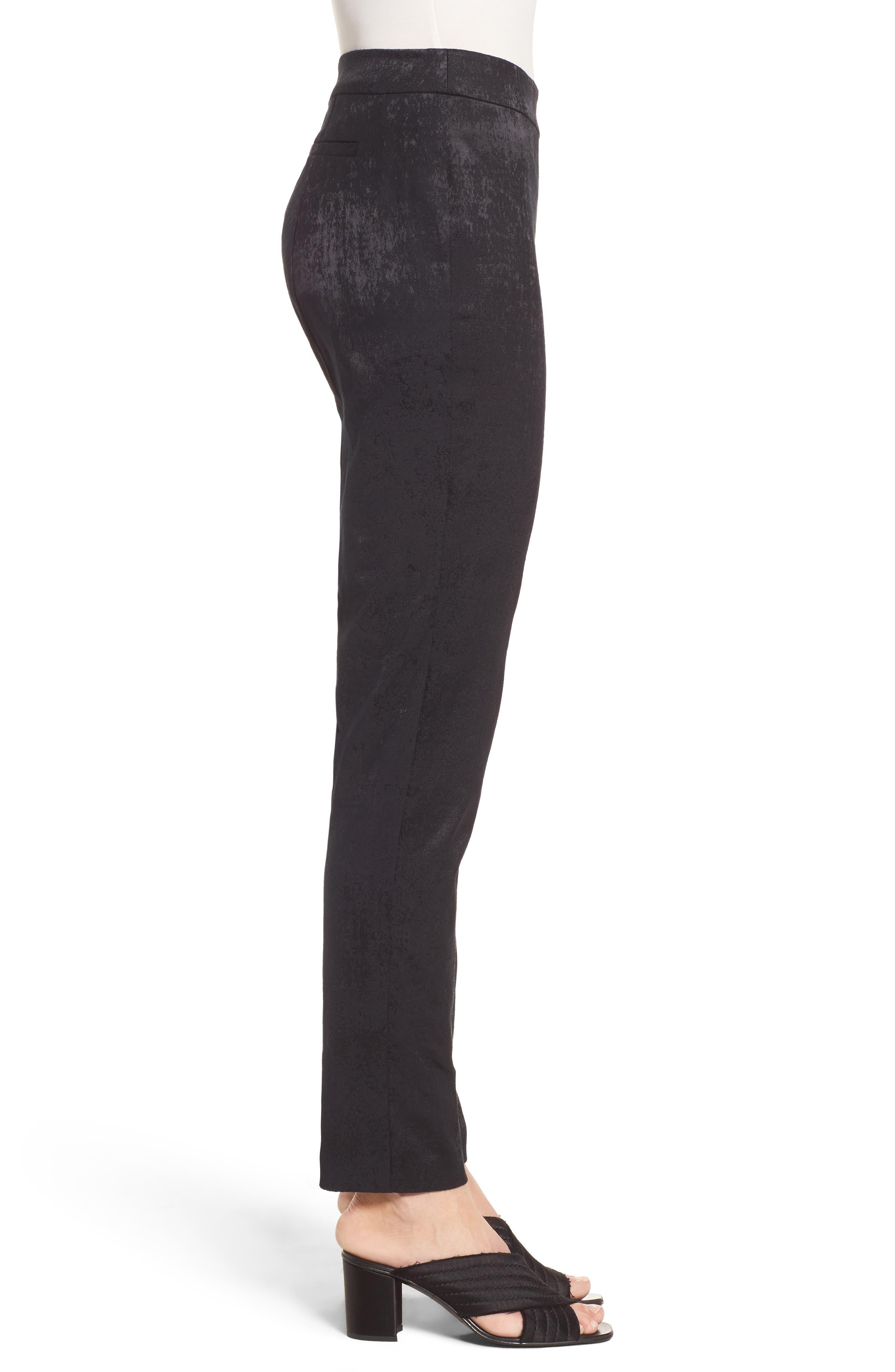 Slim Stretch Jacquard Trousers,                             Alternate thumbnail 3, color,                             001